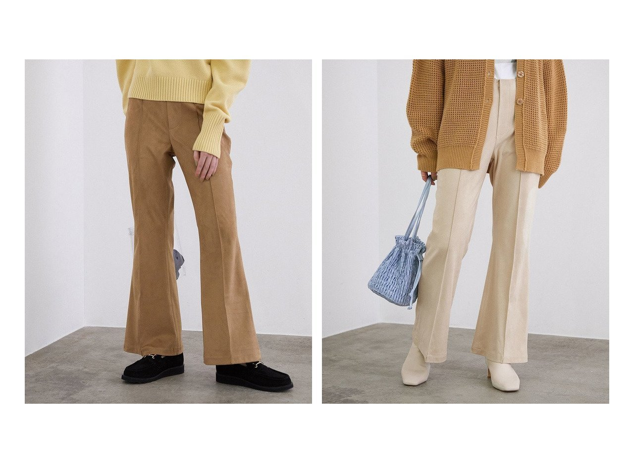 【ROPE' mademoiselle/ロペ マドモアゼル】のフロントピンタックエコスウェードパンツ パンツのおすすめ!人気、トレンド・レディースファッションの通販 おすすめで人気の流行・トレンド、ファッションの通販商品 メンズファッション・キッズファッション・インテリア・家具・レディースファッション・服の通販 founy(ファニー) https://founy.com/ ファッション Fashion レディースファッション WOMEN パンツ Pants NEW・新作・新着・新入荷 New Arrivals スウェード ストレッチ トレンド フロント ポケット リラックス レギンス ヴィンテージ 今季 冬 Winter |ID:crp329100000012866