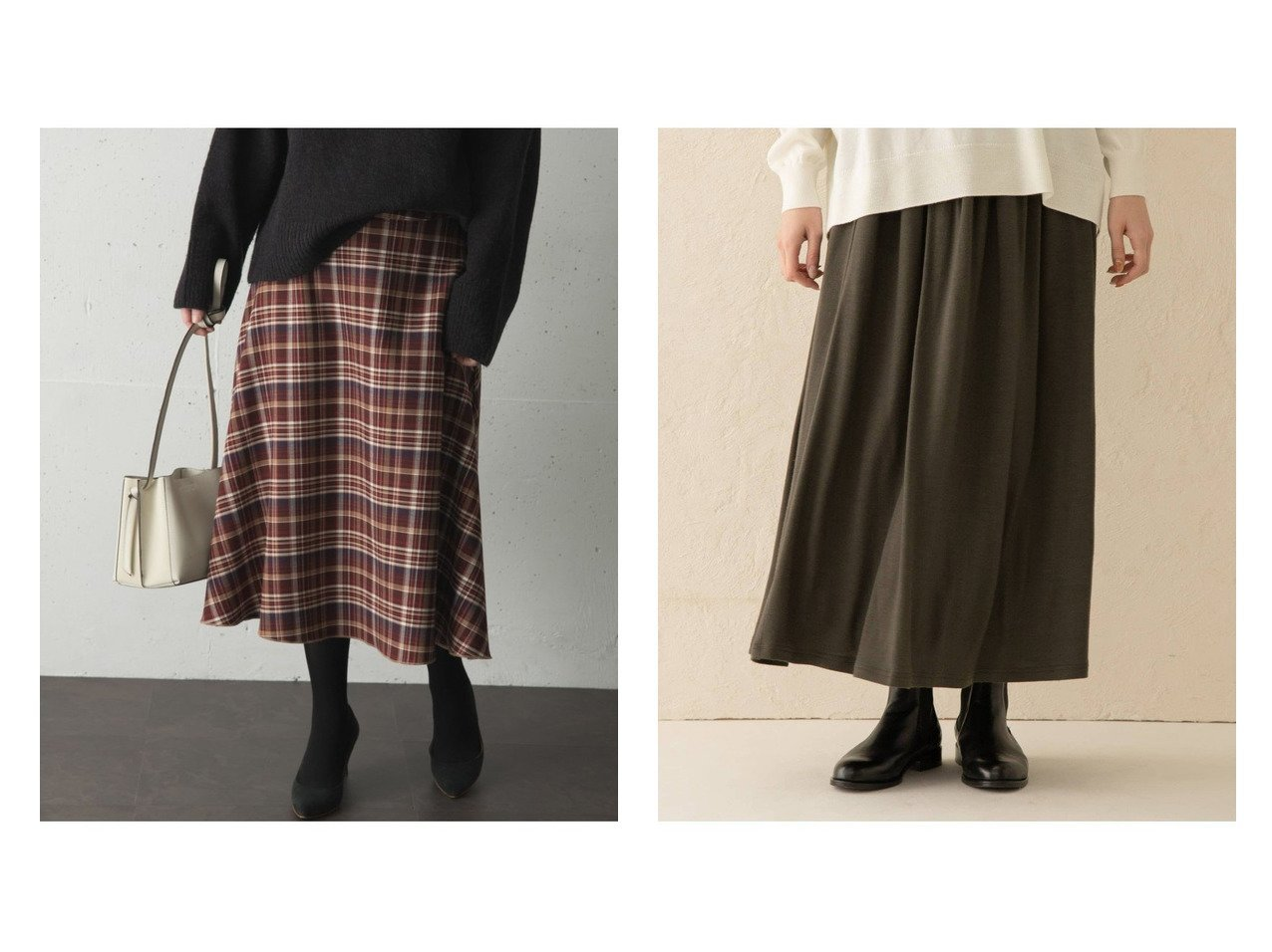 【kagure/かぐれ】のウールカットギャザースカート&【URBAN RESEARCH ROSSO/アーバンリサーチ ロッソ】のチェックミディフレアスカート スカートのおすすめ!人気、トレンド・レディースファッションの通販 おすすめで人気の流行・トレンド、ファッションの通販商品 メンズファッション・キッズファッション・インテリア・家具・レディースファッション・服の通販 founy(ファニー) https://founy.com/ ファッション Fashion レディースファッション WOMEN スカート Skirt Aライン/フレアスカート Flared A-Line Skirts ポケット |ID:crp329100000012895