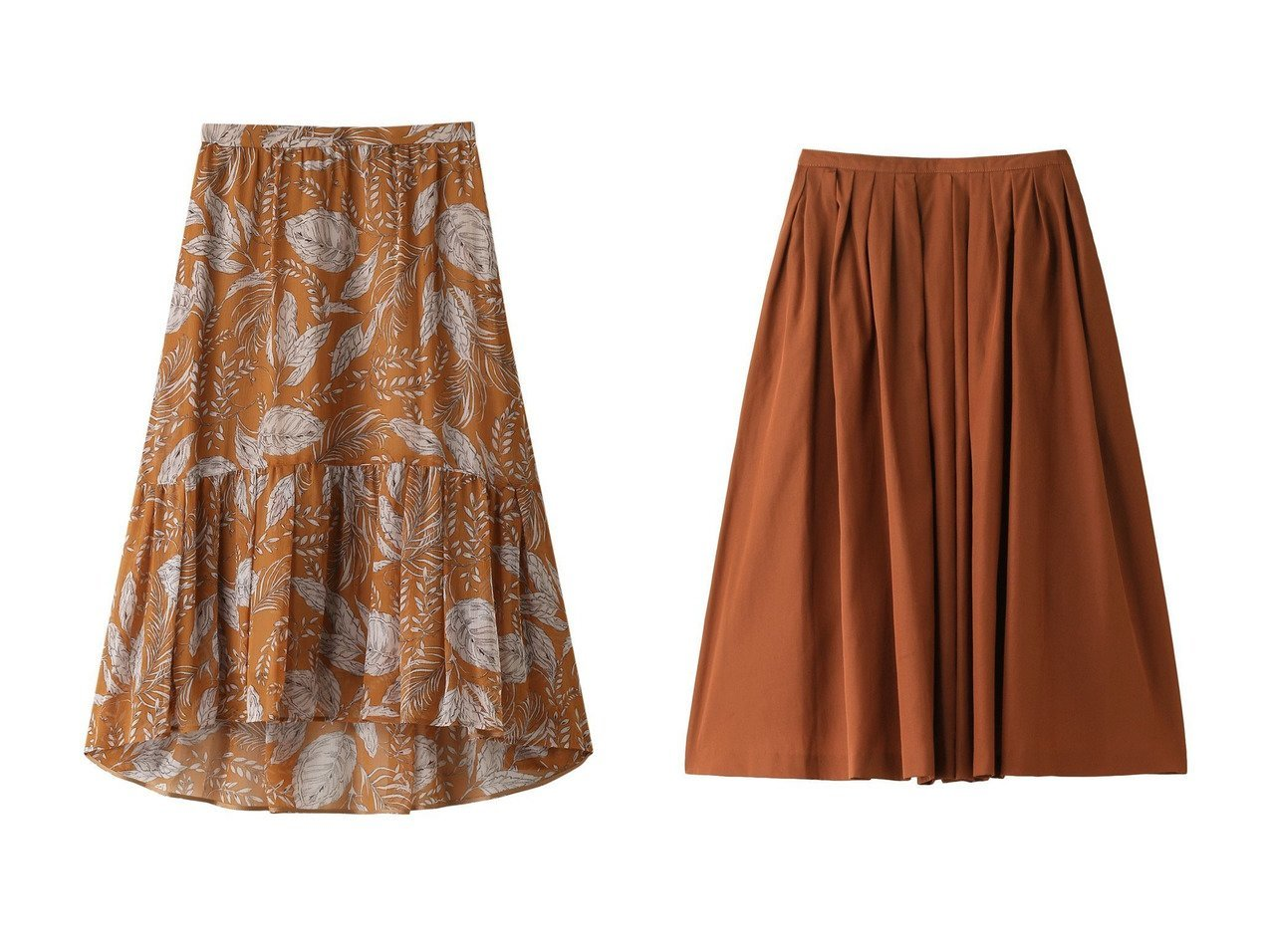 【ANAYI/アナイ】のクレープリーフPTティアード スカート&【martinique/マルティニーク】のタックスカート スカートのおすすめ!人気、トレンド・レディースファッションの通販 おすすめで人気の流行・トレンド、ファッションの通販商品 メンズファッション・キッズファッション・インテリア・家具・レディースファッション・服の通販 founy(ファニー) https://founy.com/ ファッション Fashion レディースファッション WOMEN スカート Skirt ティアードスカート Tiered Skirts エレガント ティアード ハイヒール フェミニン ボタニカル リーフ 再入荷 Restock/Back in Stock/Re Arrival |ID:crp329100000012912