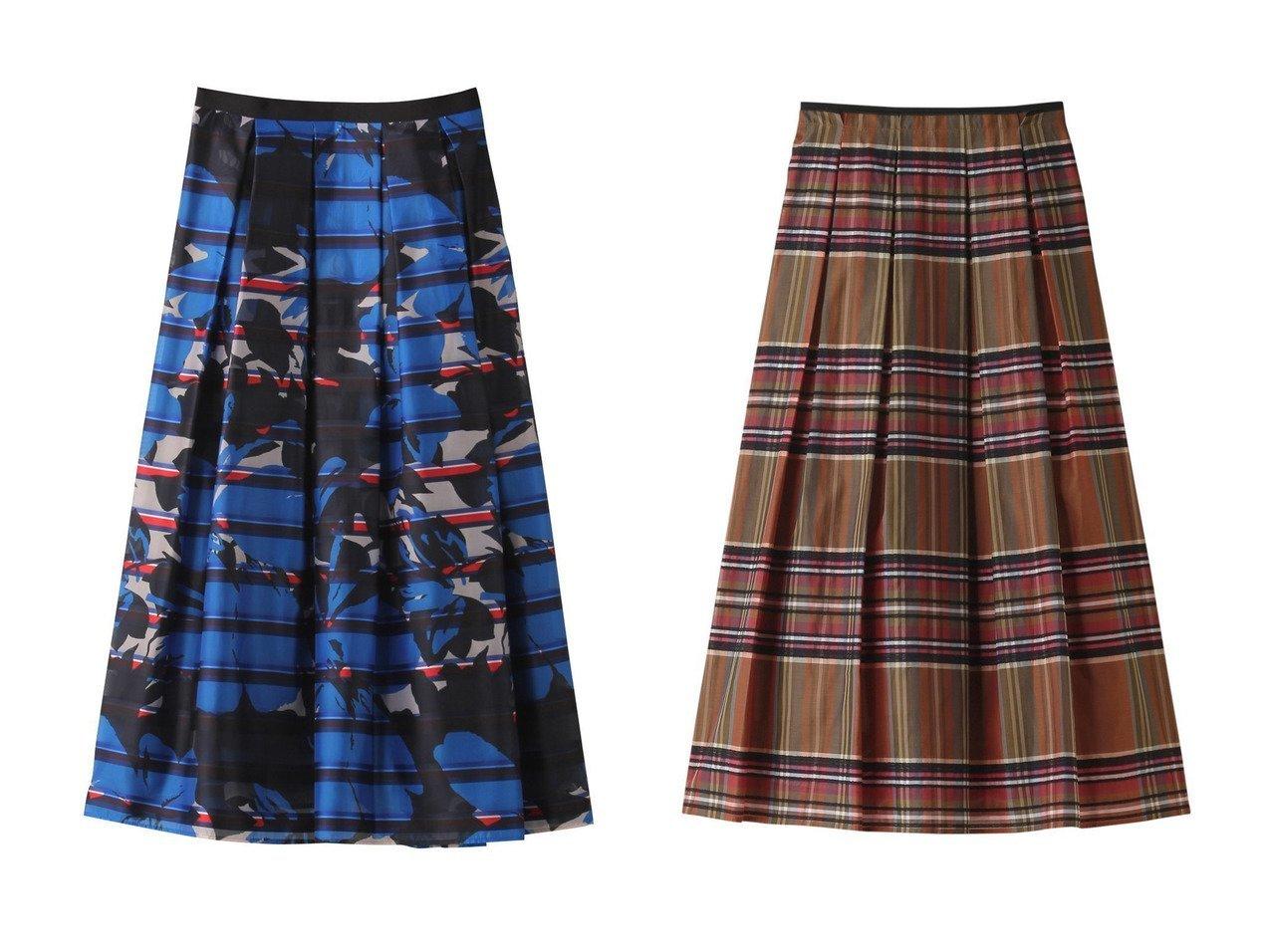 【ANAYI/アナイ】のボーダーBIGフラワーPTタックスカート&タータンチェックタックスカート スカートのおすすめ!人気、トレンド・レディースファッションの通販 おすすめで人気の流行・トレンド、ファッションの通販商品 メンズファッション・キッズファッション・インテリア・家具・レディースファッション・服の通販 founy(ファニー) https://founy.com/ ファッション Fashion レディースファッション WOMEN スカート Skirt ロングスカート Long Skirt エアリー パーティ フラワー フレア プリント ボーダー ロング 再入荷 Restock/Back in Stock/Re Arrival クラシカル |ID:crp329100000012914