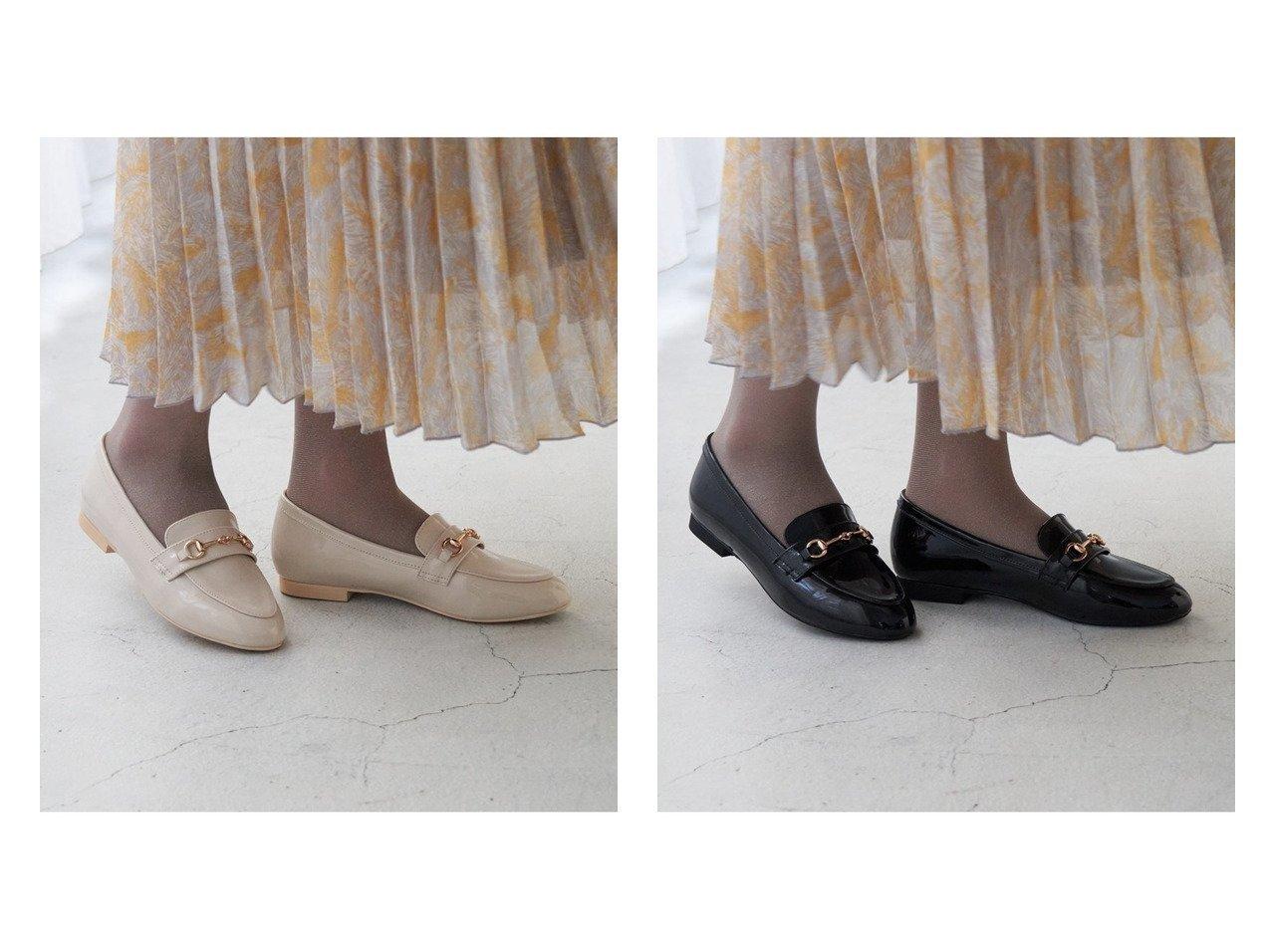 【ROPE'PICNIC PASSAGE/ロペピクニック パサージュ】の【ROPE PICNIC PASSAGE byHARUTA】エナメルビット付フラットローファー シューズ・靴のおすすめ!人気、トレンド・レディースファッションの通販 おすすめで人気の流行・トレンド、ファッションの通販商品 メンズファッション・キッズファッション・インテリア・家具・レディースファッション・服の通販 founy(ファニー) https://founy.com/ ファッション Fashion レディースファッション WOMEN インソール エナメル エレガント クッション シューズ 抗菌  ID:crp329100000012961