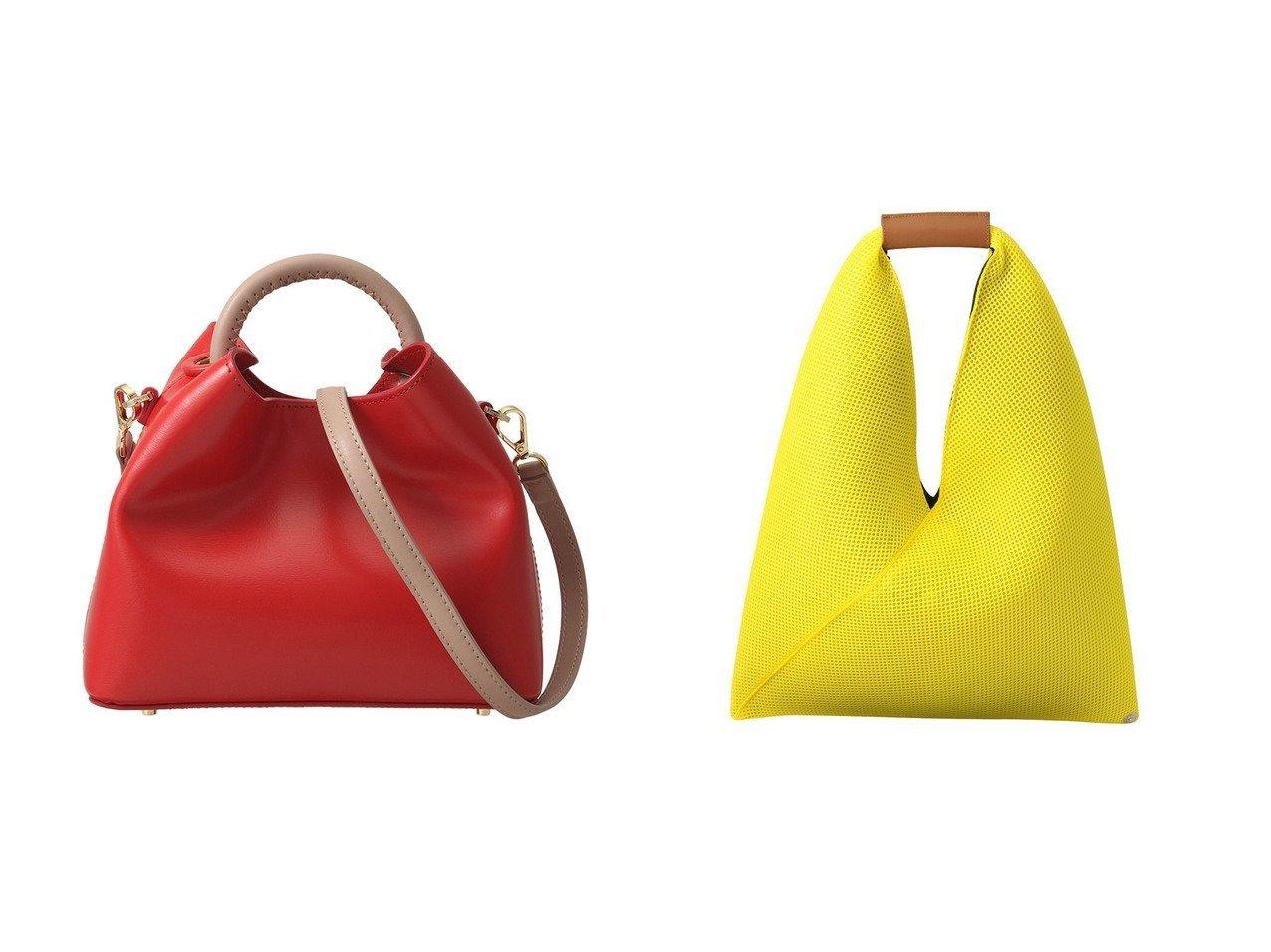 【MM6 Maison Martin Margiela/エムエム6 メゾン マルタン マルジェラ】のメッシュジャパニーズバッグS&【martinique/マルティニーク】の【elleme】ショルダーバッグ バッグ・鞄のおすすめ!人気、トレンド・レディースファッションの通販 おすすめファッション通販アイテム インテリア・キッズ・メンズ・レディースファッション・服の通販 founy(ファニー) ファッション Fashion レディースファッション WOMEN バッグ Bag なめらか コンパクト シェイプ 2021年 2021 2021 春夏 S/S SS Spring/Summer 2021 S/S 春夏 SS Spring/Summer ハンドバッグ メッシュ 春 Spring オレンジ系 Orange イエロー系 Yellow ブルー系 Blue  ID:crp329100000012973