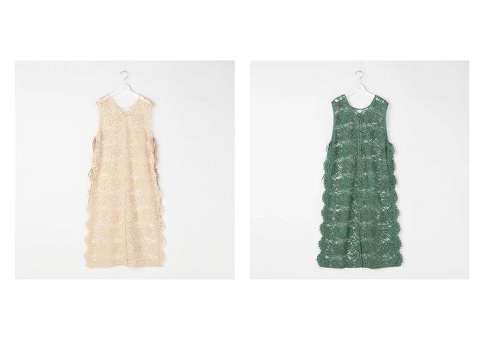 【Ravissant Laviere/ラヴィソンラヴィエール】のリバーレース前後ジレワンピース アウターのおすすめ!人気、トレンド・レディースファッションの通販 おすすめファッション通販アイテム レディースファッション・服の通販 founy(ファニー) ファッション Fashion レディースファッション WOMEN アウター Coat Outerwear ワンピース Dress シャツワンピース Shirt Dresses インナー エレガント ノースリーブ ベルベット ラッセル リボン レース |ID:crp329100000013041
