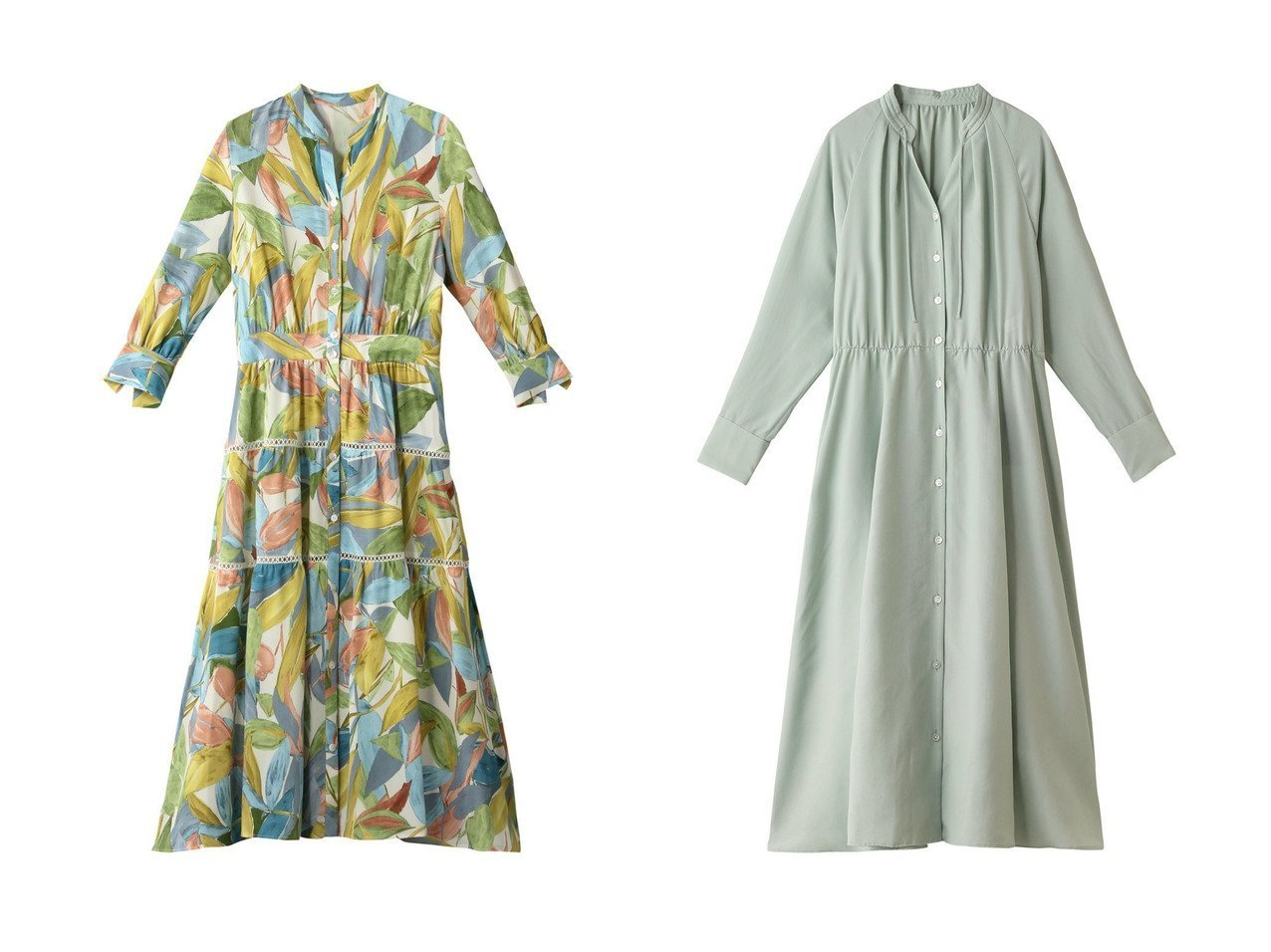 【ANAYI/アナイ】のソフトタイプライタースタンドワンピース&ペイズリーフPTフレアシャツワンピース ワンピース・ドレスのおすすめ!人気、トレンド・レディースファッションの通販 おすすめで人気の流行・トレンド、ファッションの通販商品 メンズファッション・キッズファッション・インテリア・家具・レディースファッション・服の通販 founy(ファニー) https://founy.com/ ファッション Fashion レディースファッション WOMEN ワンピース Dress シャツワンピース Shirt Dresses パーティ プリント リーフ 再入荷 Restock/Back in Stock/Re Arrival |ID:crp329100000013071