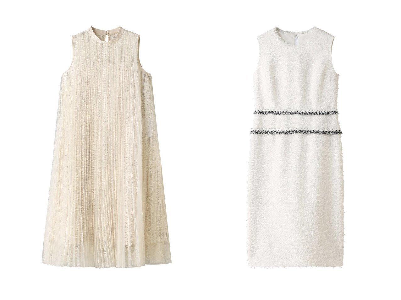 【ANAYI/アナイ】のファンシーツイードIラインワンピース&チュールレースプリーツワンピース ワンピース・ドレスのおすすめ!人気、トレンド・レディースファッションの通販 おすすめで人気の流行・トレンド、ファッションの通販商品 メンズファッション・キッズファッション・インテリア・家具・レディースファッション・服の通販 founy(ファニー) https://founy.com/ ファッション Fashion レディースファッション WOMEN ワンピース Dress エアリー スリット パーティ フェミニン フレア 再入荷 Restock/Back in Stock/Re Arrival |ID:crp329100000013072