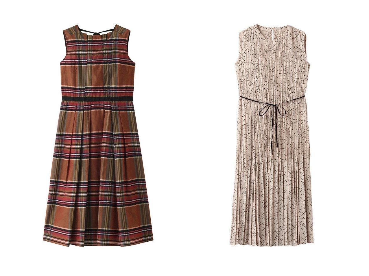 【ANAYI/アナイ】のスクエアドットPTプリーツワンピース&タータンチェックスタンドネックワンピース ワンピース・ドレスのおすすめ!人気、トレンド・レディースファッションの通販 おすすめで人気の流行・トレンド、ファッションの通販商品 メンズファッション・キッズファッション・インテリア・家具・レディースファッション・服の通販 founy(ファニー) https://founy.com/ ファッション Fashion レディースファッション WOMEN ワンピース Dress クラシカル フィット フレア フロント リボン シューズ スクエア ドット フェミニン プリーツ 無地 羽織 |ID:crp329100000013074