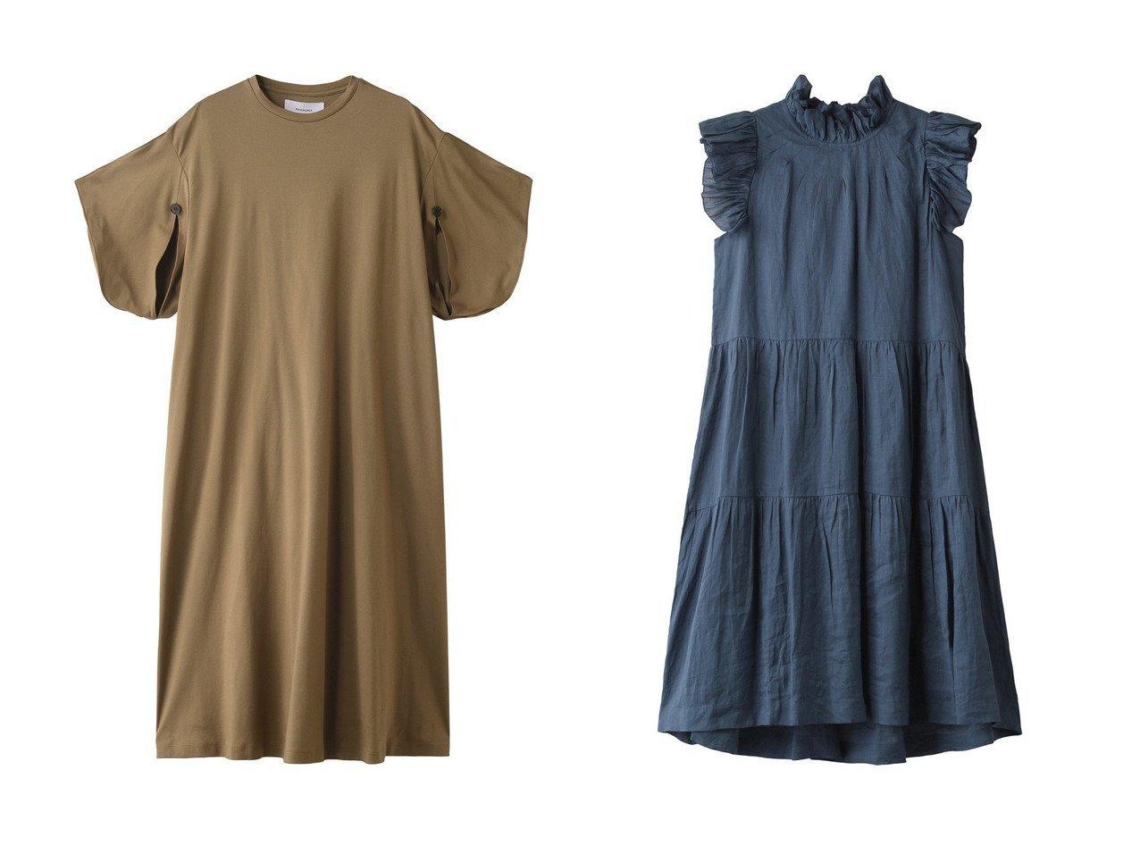 【AKIRANAKA/アキラナカ】のスリットスリーブTドレス&【Sea NEW YORK/シー ニューヨーク】のHattie ラミーティアードチュニックドレス ワンピース・ドレスのおすすめ!人気、トレンド・レディースファッションの通販 おすすめで人気の流行・トレンド、ファッションの通販商品 メンズファッション・キッズファッション・インテリア・家具・レディースファッション・服の通販 founy(ファニー) https://founy.com/ ファッション Fashion レディースファッション WOMEN ワンピース Dress ドレス Party Dresses チュニック Tunic 帽子 Hats 2021年 2021 2021 春夏 S/S SS Spring/Summer 2021 S/S 春夏 SS Spring/Summer カッティング スリット スリーブ ドレス ロング 春 Spring |ID:crp329100000013081