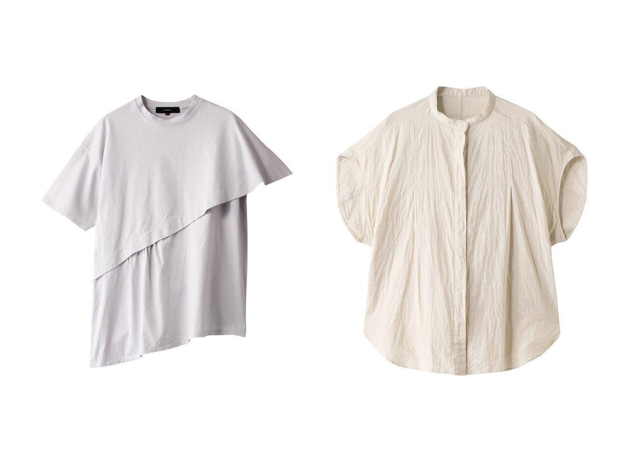 【FLORENT/フローレント】の2天竺クラシックTシャツ&ダブルガーゼコットンショートスリーブブラウス トップス・カットソーのおすすめ!人気、トレンド・レディースファッションの通販 おすすめで人気の流行・トレンド、ファッションの通販商品 メンズファッション・キッズファッション・インテリア・家具・レディースファッション・服の通販 founy(ファニー) https://founy.com/ ファッション Fashion レディースファッション WOMEN トップス Tops Tshirt シャツ/ブラウス Shirts Blouses ロング / Tシャツ T-Shirts カットソー Cut and Sewn 2021年 2021 2021 春夏 S/S SS Spring/Summer 2021 S/S 春夏 SS Spring/Summer アシメトリー クラシック ショート スリーブ 半袖 春 Spring |ID:crp329100000013101