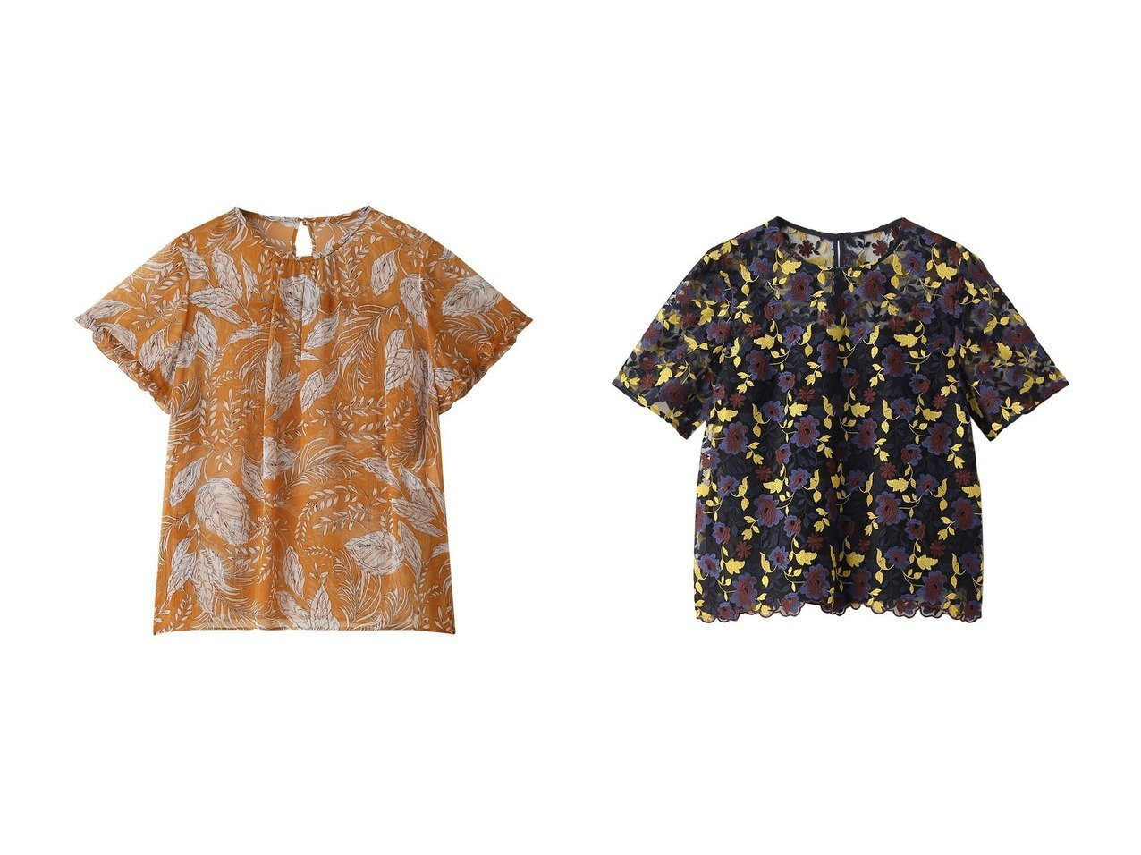 【ANAYI/アナイ】のチュールツートンフラワークルーブラウス&クレープリーフPTギャザー ブラウス トップス・カットソーのおすすめ!人気、トレンド・レディースファッションの通販 おすすめで人気の流行・トレンド、ファッションの通販商品 メンズファッション・キッズファッション・インテリア・家具・レディースファッション・服の通販 founy(ファニー) https://founy.com/ ファッション Fashion レディースファッション WOMEN トップス Tops Tshirt シャツ/ブラウス Shirts Blouses インナー ギャザー コンパクト ショート スリーブ フリル ヨーク リーフ 再入荷 Restock/Back in Stock/Re Arrival |ID:crp329100000013110