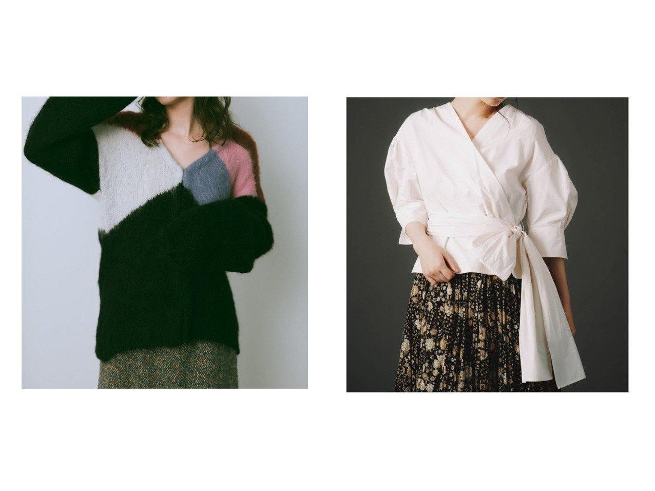 【CELFORD/セルフォード】のカシュクールブラウス&【Lily Brown/リリーブラウン】のパネルニットカーディガン トップス・カットソーのおすすめ!人気、トレンド・レディースファッションの通販 おすすめで人気の流行・トレンド、ファッションの通販商品 メンズファッション・キッズファッション・インテリア・家具・レディースファッション・服の通販 founy(ファニー) https://founy.com/ ファッション Fashion レディースファッション WOMEN トップス Tops Tshirt ニット Knit Tops カーディガン Cardigans シャツ/ブラウス Shirts Blouses カーディガン シンプル ハンド フロント ブロック ミドル 手編み カフス バランス ビッグ リボン |ID:crp329100000013130