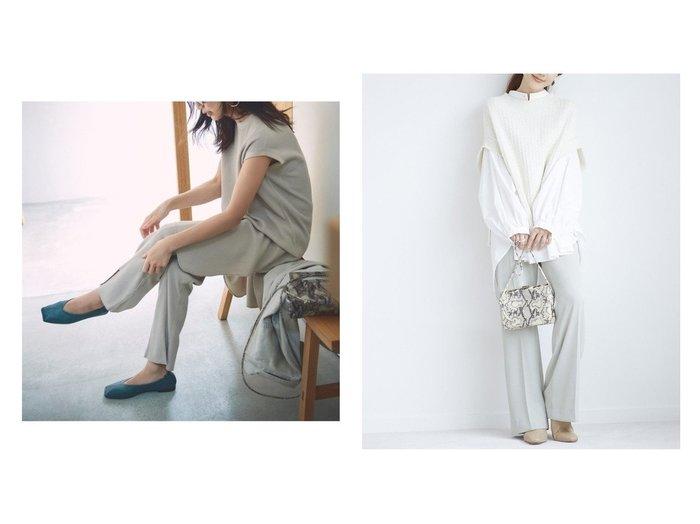 【Mila Owen/ミラオーウェン】のサーマル後ろスリットPT&【SNIDEL/スナイデル】のジョーゼットリラックスパンツ パンツのおすすめ!人気、トレンド・レディースファッションの通販 おすすめファッション通販アイテム レディースファッション・服の通販 founy(ファニー) ファッション Fashion レディースファッション WOMEN パンツ Pants ジーンズ スリット セットアップ センター バランス パジャマ フロント 12月号 ジョーゼット ベスト ミックス リラックス 楽ちん ワイド |ID:crp329100000013347