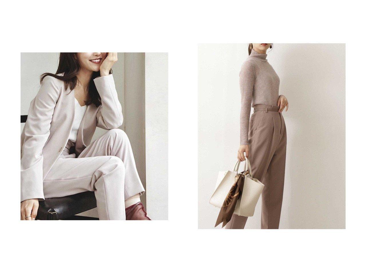 【PROPORTION BODY DRESSING/プロポーション ボディドレッシング】の《セットアップ対応》テーパードパンツ パンツのおすすめ!人気、トレンド・レディースファッションの通販 おすすめで人気の流行・トレンド、ファッションの通販商品 メンズファッション・キッズファッション・インテリア・家具・レディースファッション・服の通販 founy(ファニー) https://founy.com/ ファッション Fashion レディースファッション WOMEN セットアップ Setup パンツ Pants ジーンズ スリット セットアップ センター 定番 Standard |ID:crp329100000013375