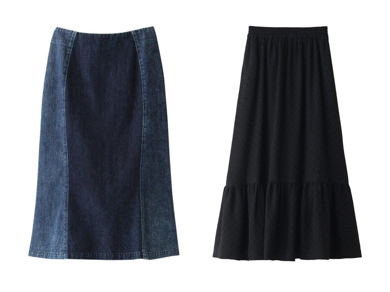 【muller of yoshiokubo/ミュラー オブ ヨシオクボ】のデニムフレアスカート&【Shinzone/シンゾーン】のジャカードフラワーギャザースカート スカートのおすすめ!人気、トレンド・レディースファッションの通販 おすすめで人気の流行・トレンド、ファッションの通販商品 メンズファッション・キッズファッション・インテリア・家具・レディースファッション・服の通販 founy(ファニー) https://founy.com/ ファッション Fashion レディースファッション WOMEN スカート Skirt Aライン/フレアスカート Flared A-Line Skirts ロングスカート Long Skirt 2021年 2021 2021 春夏 S/S SS Spring/Summer 2021 S/S 春夏 SS Spring/Summer デニム フロント マーメイド 春 Spring |ID:crp329100000013381