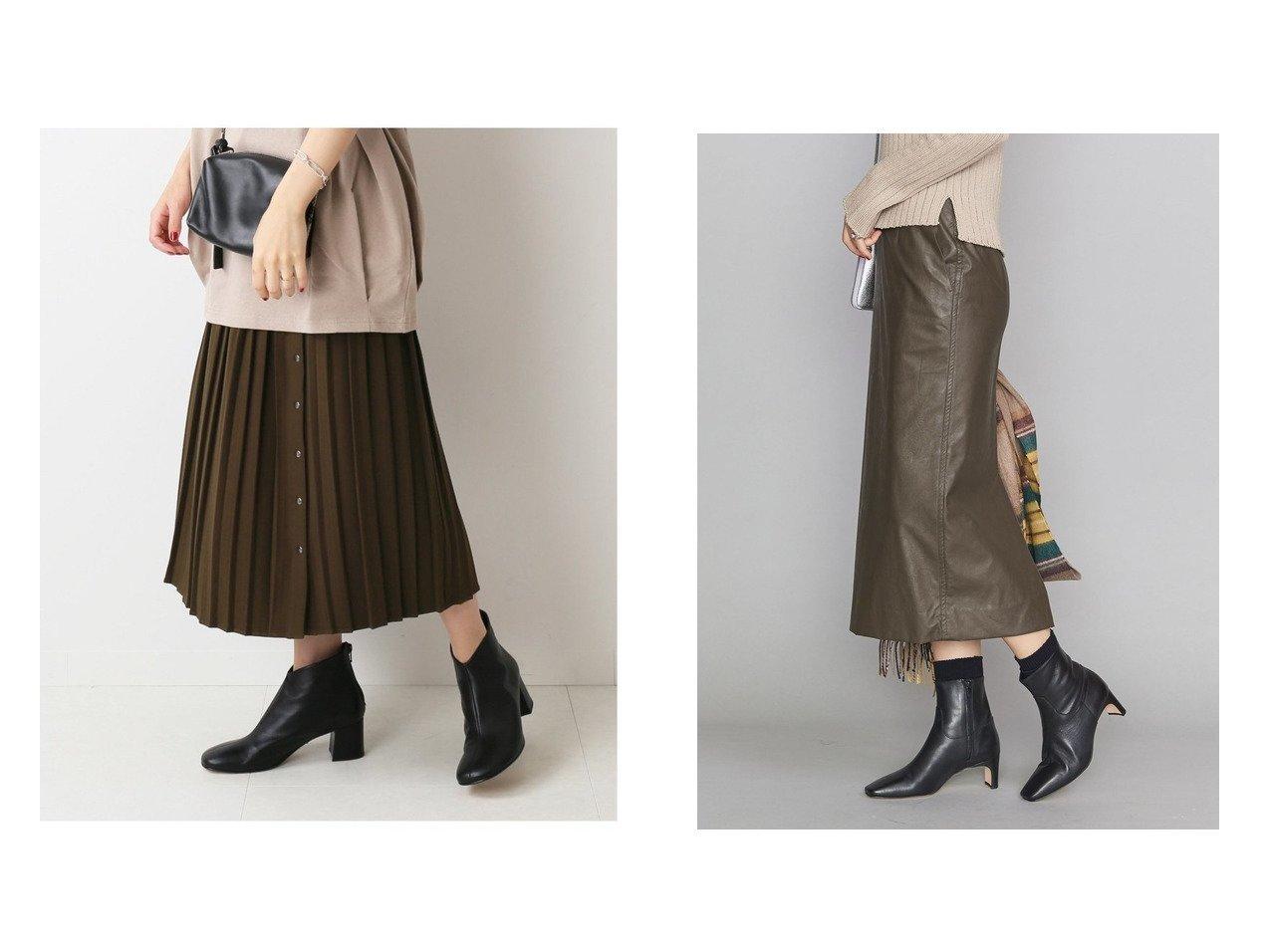【BEAUTY&YOUTH UNITED ARROWS/ビューティアンド ユースユナイテッドアローズ】のBY フェイクレザータイトスカート&【JOURNAL STANDARD relume/ジャーナルスタンダード レリューム】のオープンフロントプリーツSK スカートのおすすめ!人気、トレンド・レディースファッションの通販 おすすめで人気の流行・トレンド、ファッションの通販商品 メンズファッション・キッズファッション・インテリア・家具・レディースファッション・服の通販 founy(ファニー) https://founy.com/ ファッション Fashion レディースファッション WOMEN スカート Skirt プリーツスカート Pleated Skirts ギャザー フロント プリーツ A/W 秋冬 AW Autumn/Winter / FW Fall-Winter スマート スリット タイトスカート フェイクレザー |ID:crp329100000013410