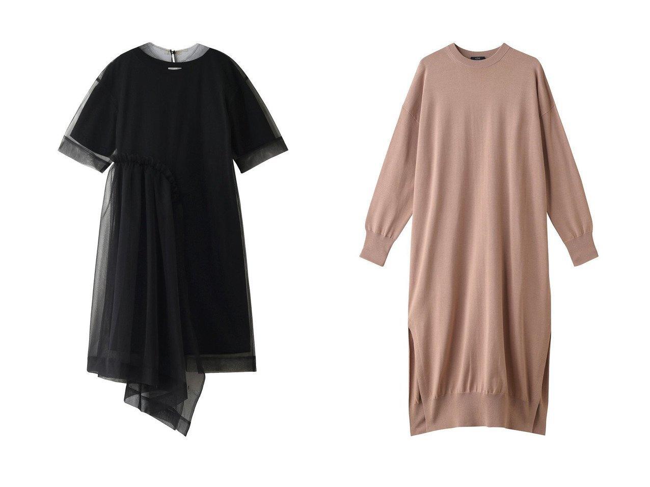 【YLEVE/イレーヴ】のオーガニックピマコットンニットワンピース&【REKISAMI/レキサミ】の【Chika Kisada】チュールレイヤードワンピース ワンピース・ドレスのおすすめ!人気、トレンド・レディースファッションの通販 おすすめで人気の流行・トレンド、ファッションの通販商品 メンズファッション・キッズファッション・インテリア・家具・レディースファッション・服の通販 founy(ファニー) https://founy.com/ ファッション Fashion レディースファッション WOMEN ワンピース Dress ニットワンピース Knit Dresses 2021年 2021 2021 春夏 S/S SS Spring/Summer 2021 S/S 春夏 SS Spring/Summer シンプル スリット ロング 春 Spring |ID:crp329100000013476
