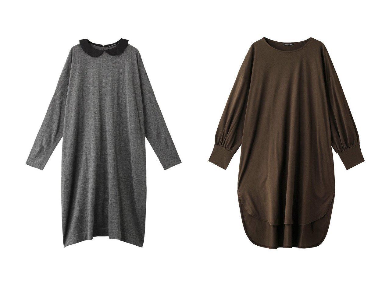 【mizuiro ind/ミズイロ インド】のシャツカラーワイドワンピース&クルーネックワンピース ワンピース・ドレスのおすすめ!人気、トレンド・レディースファッションの通販 おすすめで人気の流行・トレンド、ファッションの通販商品 メンズファッション・キッズファッション・インテリア・家具・レディースファッション・服の通販 founy(ファニー) https://founy.com/ ファッション Fashion レディースファッション WOMEN ワンピース Dress スリット 定番 Standard フェミニン |ID:crp329100000013478