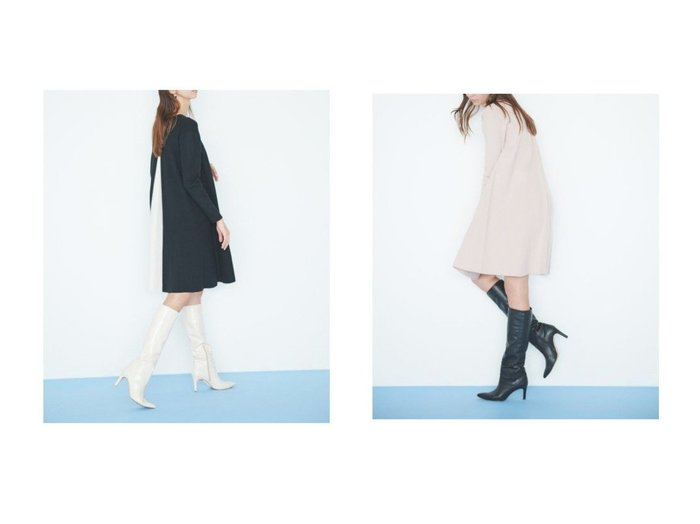 【CELFORD/セルフォード】の【NEW Year Special Knit Dress】バイカラーAラインニットワンピース ワンピース・ドレスのおすすめ!人気、トレンド・レディースファッションの通販 おすすめファッション通販アイテム レディースファッション・服の通販 founy(ファニー) ファッション Fashion レディースファッション WOMEN ワンピース Dress ドレス Party Dresses ニットワンピース Knit Dresses スペシャル スマート フロント 再入荷 Restock/Back in Stock/Re Arrival |ID:crp329100000013483