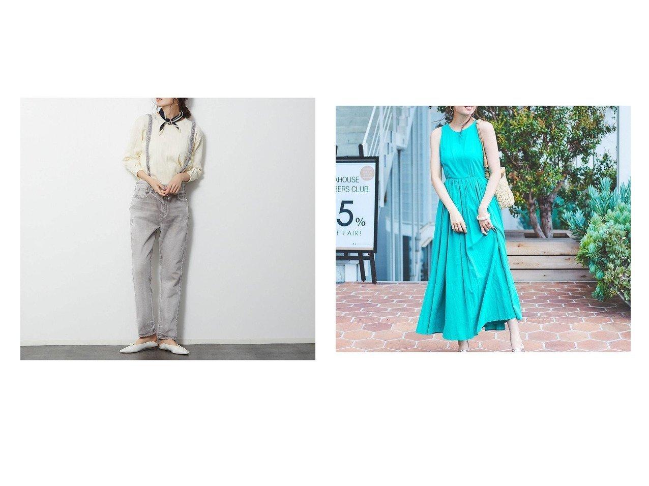 【Rouge vif la cle/ルージュヴィフラクレ】の【upper hights別注】 THE ALEXA&【MARIHA】別注 夏のレディのドレス 別注・限定・コラボなど、おすすめ!人気トレンド・レディースファッション通販 おすすめで人気の流行・トレンド、ファッションの通販商品 メンズファッション・キッズファッション・インテリア・家具・レディースファッション・服の通販 founy(ファニー) https://founy.com/ ファッション Fashion レディースファッション WOMEN ワンピース Dress ドレス Party Dresses 春 Spring カットソー サスペンダー シンプル スタイリッシュ ストレッチ デニム バランス フィット 別注 インド カーディガン ジャケット ドレス 人気 フレア リゾート |ID:crp329100000013591