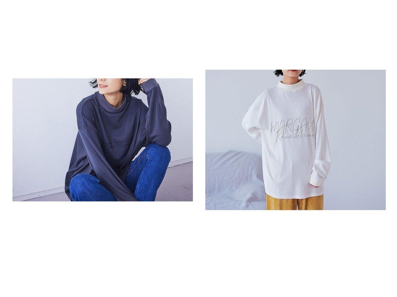 【qualite/カリテ】の【MARGAUX】【WEB限定】リブロゴロンT&【MARGAUX】【WEB限定】リブ英字ロンT 別注・限定・コラボなど、おすすめ!人気トレンド・レディースファッション通販 おすすめで人気の流行・トレンド、ファッションの通販商品 メンズファッション・キッズファッション・インテリア・家具・レディースファッション・服の通販 founy(ファニー) https://founy.com/ ファッション Fashion レディースファッション WOMEN トップス Tops Tshirt ロング / Tシャツ T-Shirts シンプル スリット スリーブ デニム 人気 フランス フロント ボトム マキシ リラックス ロング A/W 秋冬 AW Autumn/Winter / FW Fall-Winter |ID:crp329100000013615