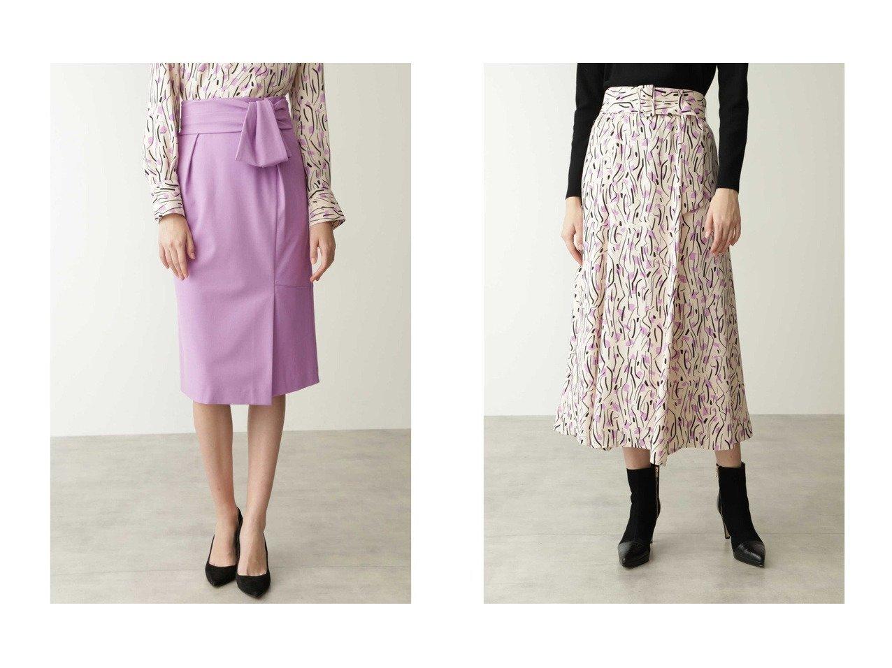 【Pinky&Dianne/ピンキーアンドダイアン】のリボンベルト付きバックマーメイドスカート&フローウイーモチーフプリントサーキュラースカート スカートのおすすめ!人気、トレンド・レディースファッションの通販 おすすめで人気の流行・トレンド、ファッションの通販商品 メンズファッション・キッズファッション・インテリア・家具・レディースファッション・服の通販 founy(ファニー) https://founy.com/ ファッション Fashion レディースファッション WOMEN スカート Skirt バッグ Bag ベルト Belts エレガント ギャザー フォルム マーメイド リボン クラシカル フレア プリント モダン ラベンダー ランダム |ID:crp329100000013676