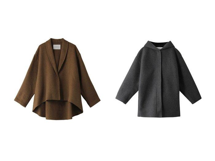 【MIDIUMISOLID/ミディウミソリッド】のbonding hooded short coat&コート アウターのおすすめ!人気、トレンド・レディースファッションの通販 おすすめファッション通販アイテム インテリア・キッズ・メンズ・レディースファッション・服の通販 founy(ファニー) https://founy.com/ ファッション Fashion レディースファッション WOMEN アウター Coat Outerwear コート Coats コンパクト ショート シンプル トレンド ベーシック ダブル ドレープ フェイス |ID:crp329100000013713