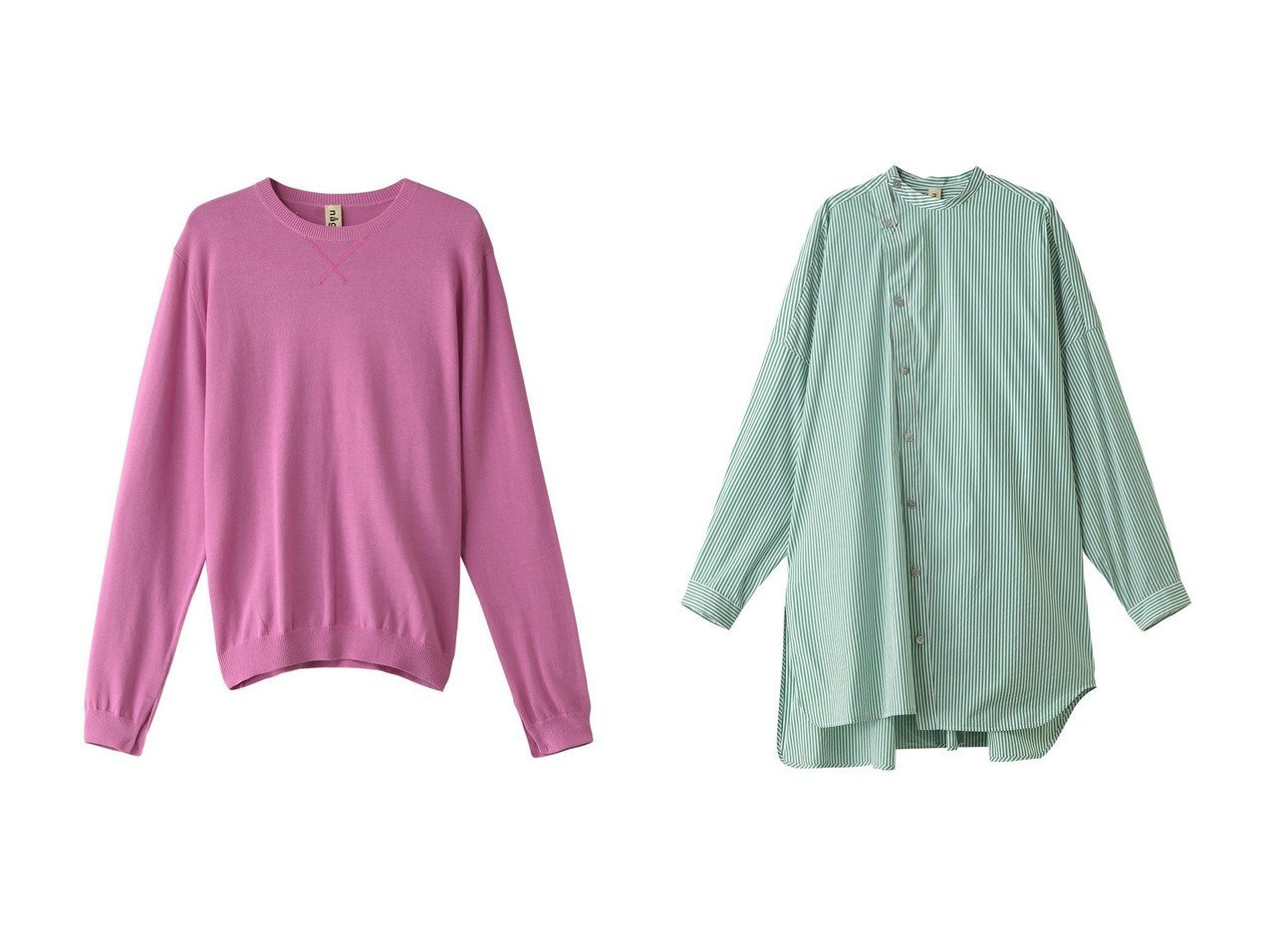 【nagonstans/ナゴンスタンス】のAirly Cotton クルーネックプルオーバー&SOMELOSストライプ スタンドネックシャツ トップス・カットソーのおすすめ!人気、トレンド・レディースファッションの通販 おすすめで人気の流行・トレンド、ファッションの通販商品 メンズファッション・キッズファッション・インテリア・家具・レディースファッション・服の通販 founy(ファニー) https://founy.com/ ファッション Fashion レディースファッション WOMEN トップス Tops Tshirt ニット Knit Tops プルオーバー Pullover シャツ/ブラウス Shirts Blouses 2021年 2021 2021 春夏 S/S SS Spring/Summer 2021 S/S 春夏 SS Spring/Summer シンプル スリット 再入荷 Restock/Back in Stock/Re Arrival 春 Spring |ID:crp329100000013754