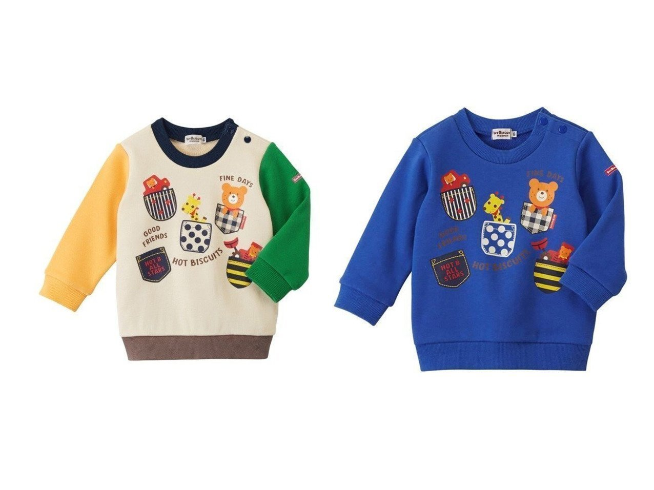 【MIKI HOUSE HOT BISCUITS / KIDS/ミキハウスホットビスケッツ】の【HOTBISCUITS】ポケットプリントトレーナー 【KIDS】子供服のおすすめ!人気トレンド・キッズファッションの通販 おすすめで人気の流行・トレンド、ファッションの通販商品 メンズファッション・キッズファッション・インテリア・家具・レディースファッション・服の通販 founy(ファニー) https://founy.com/ ファッション Fashion キッズファッション KIDS トップス Tops Tees Kids 送料無料 Free Shipping カラフル トレーナー プリント ポケット |ID:crp329100000013817