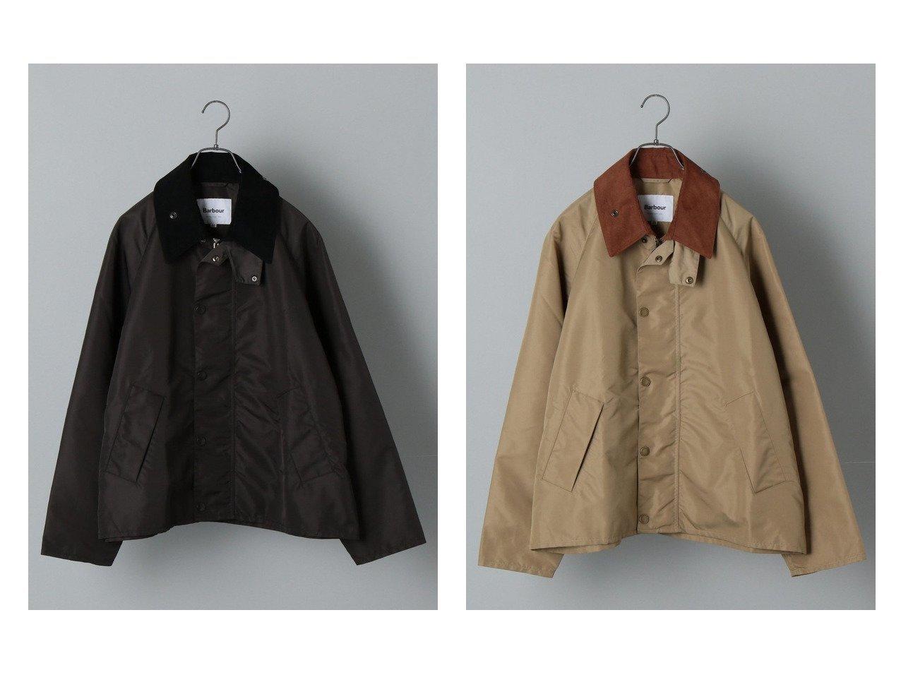 【SHIPS / MEN/シップス】の【SHIPS別注】BARBOUR ナイロントランスポート ジャケット 【MEN】別注・限定・コラボなど、おすすめ!人気トレンド・メンズファッション通販  おすすめで人気の流行・トレンド、ファッションの通販商品 メンズファッション・キッズファッション・インテリア・家具・レディースファッション・服の通販 founy(ファニー) https://founy.com/ ファッション Fashion メンズファッション MEN アウトドア オケージョン 軽量 ジャケット スリーブ 人気 フロント ブルゾン 別注 リラックス NEW・新作・新着・新入荷 New Arrivals |ID:crp329100000013890