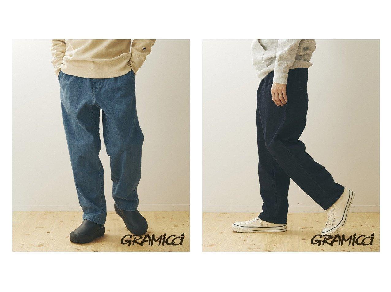 【JOURNAL STANDARD / MEN/ジャーナルスタンダード】のGRAMICCI*JS SMU DENIM RESORT PANTS 【MEN】別注・限定・コラボなど、おすすめ!人気トレンド・メンズファッション通販  おすすめで人気の流行・トレンド、ファッションの通販商品 メンズファッション・キッズファッション・インテリア・家具・レディースファッション・服の通販 founy(ファニー) https://founy.com/ ファッション Fashion メンズファッション MEN ボトムス Bottoms Men カリフォルニア ジーンズ テーパード デニム トレンド バルーン 別注 ワイド 2021年 2021 S/S 春夏 SS Spring/Summer 2021 春夏 S/S SS Spring/Summer 2021 NEW・新作・新着・新入荷 New Arrivals  ID:crp329100000013911
