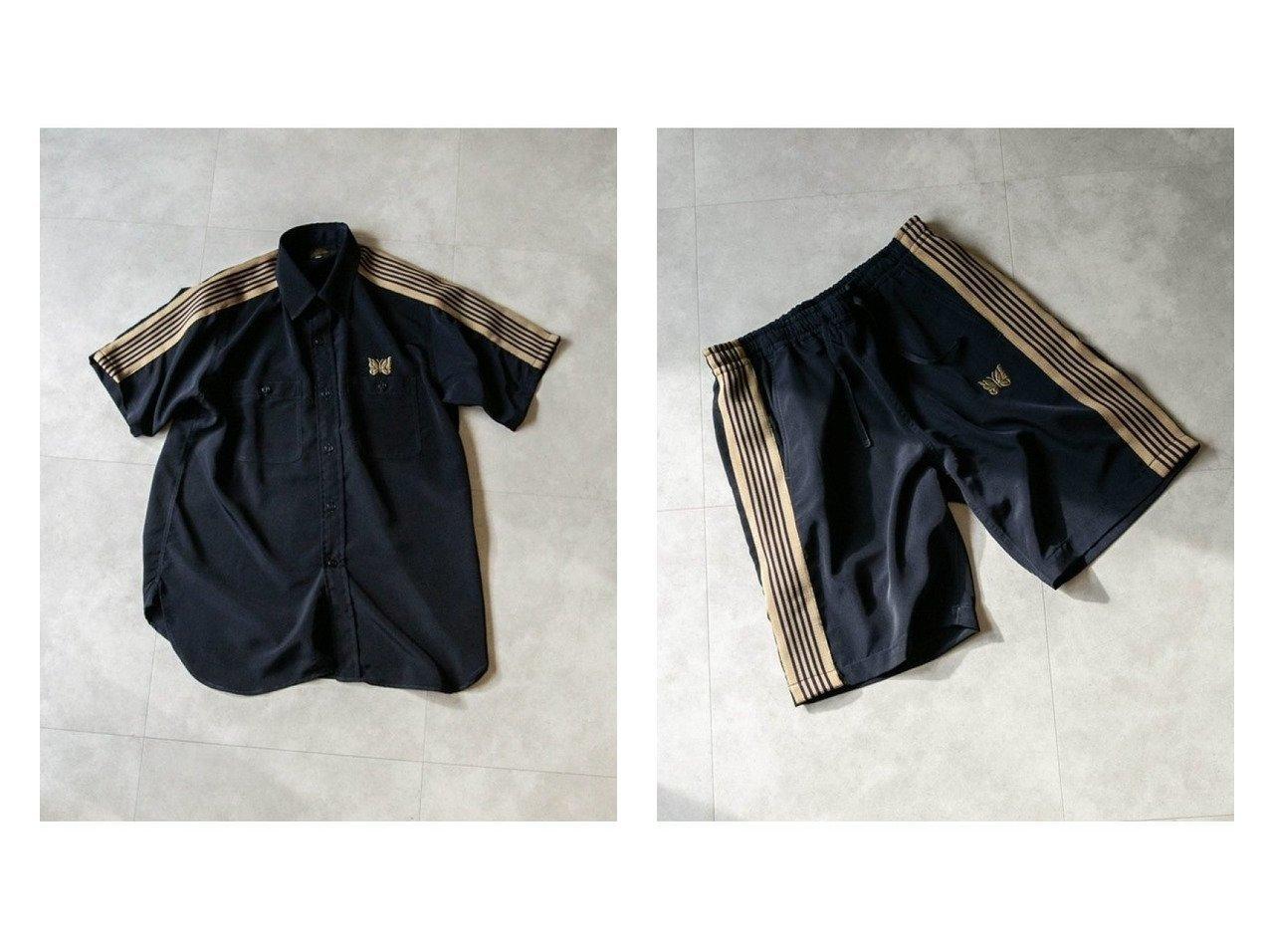 【Needles / MEN/ニードルズ】の別注S Work Shirt Poly Cloth&別注 Basketball Short Poly Cloth 【MEN】別注・限定・コラボなど、おすすめ!人気トレンド・メンズファッション通販  おすすめで人気の流行・トレンド、ファッションの通販商品 メンズファッション・キッズファッション・インテリア・家具・レディースファッション・服の通販 founy(ファニー) https://founy.com/ ファッション Fashion メンズファッション MEN ボトムス Bottoms Men ハーフ / ショートパンツ Short Pants ジャケット セットアップ 定番 Standard フロント ポケット 別注 メンズ ワーク S/S 春夏 SS Spring/Summer コレクション ショーツ ショート ジーンズ 人気 2021年 2021 2021 春夏 S/S SS Spring/Summer 2021  ID:crp329100000013952