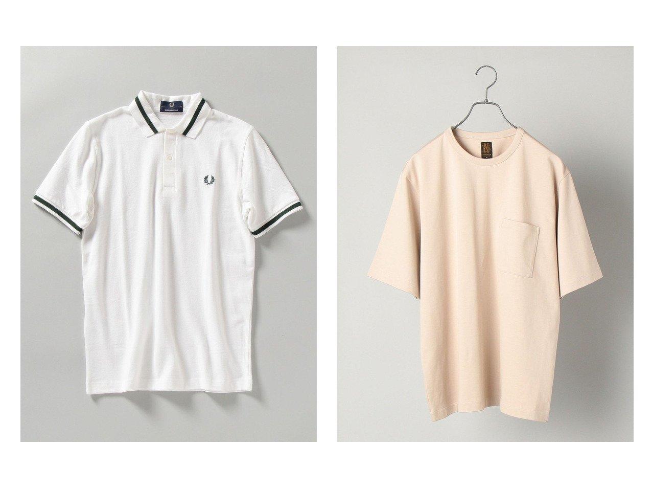 【SHIPS / MEN/シップス】の【SHIPS別注】FRED PERRY イギリス製 M2 ポロシャツ&【SHIPS別注】BATONER オーガニックコットン ハイカウント Tシャツ 【MEN】別注・限定・コラボなど、おすすめ!人気トレンド・メンズファッション通販  おすすめで人気の流行・トレンド、ファッションの通販商品 メンズファッション・キッズファッション・インテリア・家具・レディースファッション・服の通販 founy(ファニー) https://founy.com/ ファッション Fashion メンズファッション MEN トップス Tops Tshirt Men シャツ Shirts ポロシャツ Polo Shirts カットソー クラシカル クラシック コレクション スポーツ トレンド ポロシャツ 別注 S/S 春夏 SS Spring/Summer NEW・新作・新着・新入荷 New Arrivals |ID:crp329100000013954