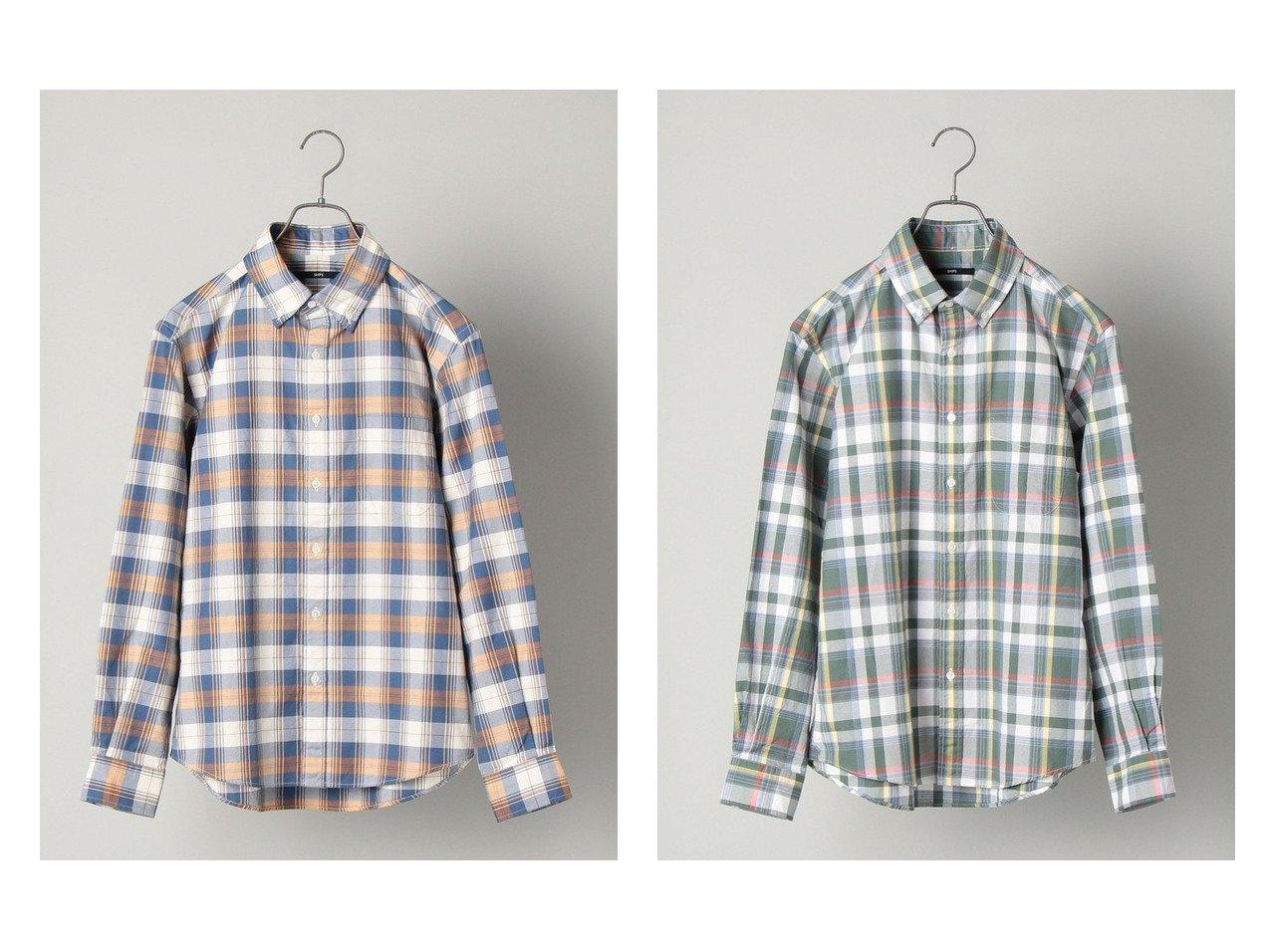 【SHIPS / MEN/シップス】のSHIPS japan quality オーガニックコットン チェック ボタンダウン シャツ 【MEN】別注・限定・コラボなど、おすすめ!人気トレンド・メンズファッション通販  おすすめで人気の流行・トレンド、ファッションの通販商品 メンズファッション・キッズファッション・インテリア・家具・レディースファッション・服の通販 founy(ファニー) https://founy.com/ ファッション Fashion メンズファッション MEN インド インナー カーディガン ジャケット ストレッチ ダウン チェック 長袖 別注 NEW・新作・新着・新入荷 New Arrivals |ID:crp329100000013958