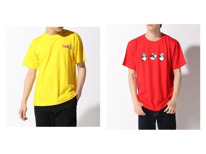 【WEGO / MEN/ウィゴー】のらんま別注プリントTシャツ 【MEN】別注・限定・コラボなど、おすすめ!人気トレンド・メンズファッション通販  おすすめ人気トレンドファッション通販アイテム 人気、トレンドファッション・服の通販 founy(ファニー)  ファッション Fashion メンズファッション MEN トップス Tops Tshirt Men シャツ Shirts カットソー キャラクター フロント プリント 別注 |ID:crp329100000013960