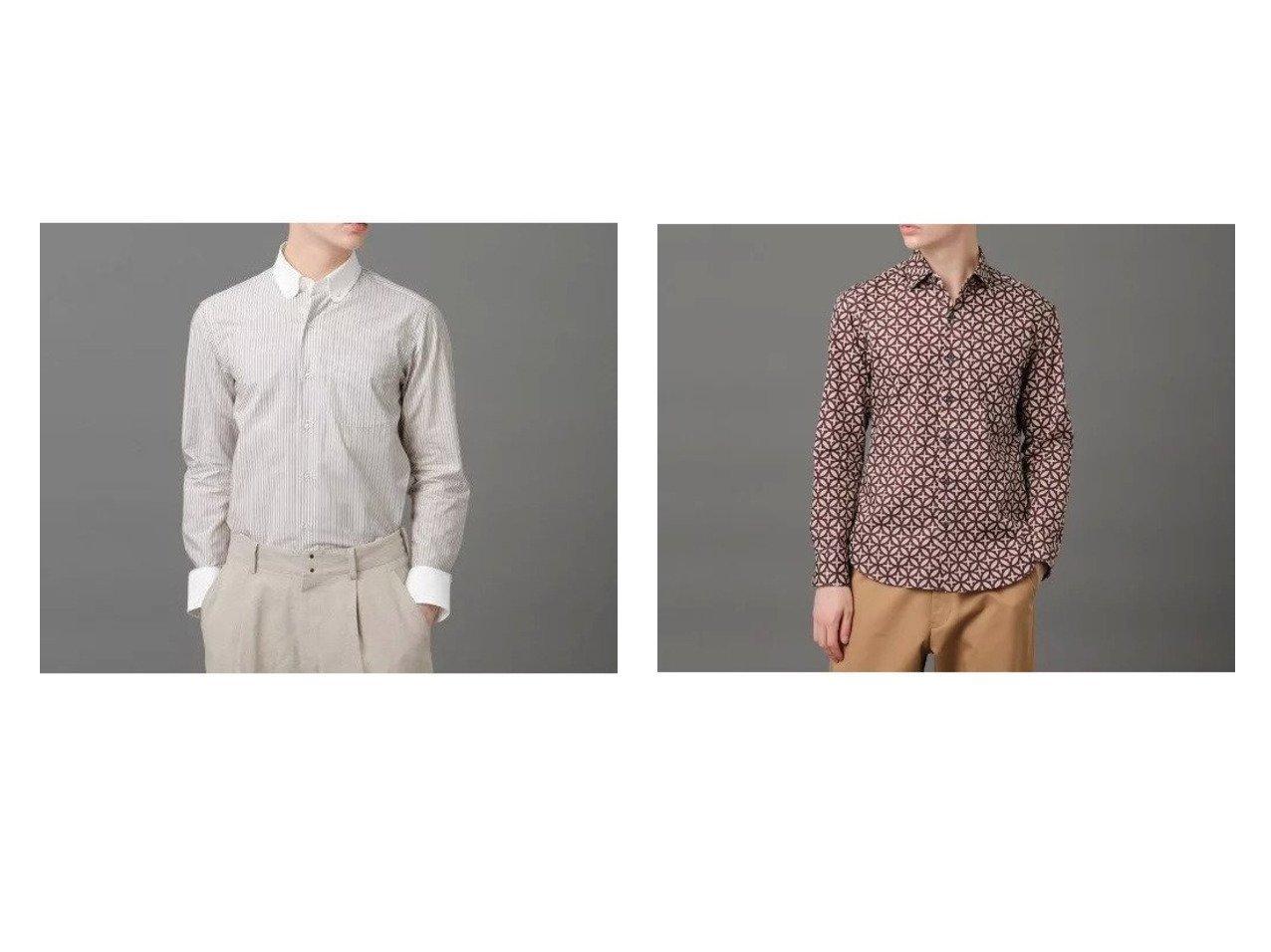 【DRESSTERIOR / MEN/ドレステリア】のラウンドBDクレリックシャツ&オーバーラップサークルシャツ 【MEN】別注・限定・コラボなど、おすすめ!人気トレンド・メンズファッション通販  おすすめで人気の流行・トレンド、ファッションの通販商品 メンズファッション・キッズファッション・インテリア・家具・レディースファッション・服の通販 founy(ファニー) https://founy.com/ ファッション Fashion メンズファッション MEN シンプル ジャケット ストライプ タイプライター ドレス 定番 Standard 人気 別注 メンズ ラウンド ヴィンテージ グラフィック シューズ ブロード プリント ベーシック  ID:crp329100000013979