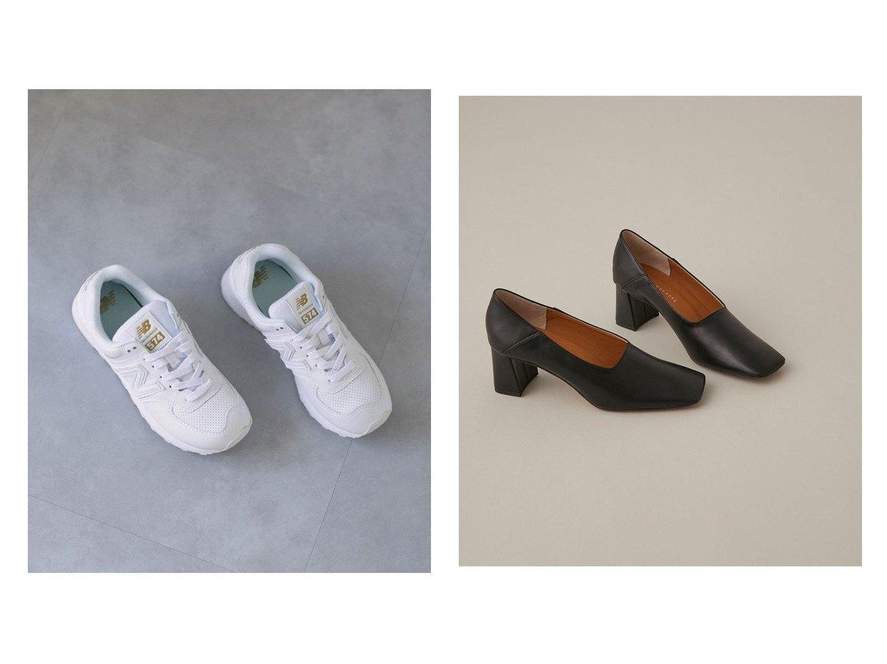 【new balance/ニューバランス】のWL574SYI&【Adam et Rope/アダム エ ロペ】のブロックヒールスクエアシューズ シューズ・靴のおすすめ!人気、トレンド・レディースファッションの通販 おすすめで人気の流行・トレンド、ファッションの通販商品 メンズファッション・キッズファッション・インテリア・家具・レディースファッション・服の通販 founy(ファニー) https://founy.com/ ファッション Fashion レディースファッション WOMEN A/W 秋冬 AW Autumn/Winter / FW Fall-Winter シューズ フォルム ブロック 今季 定番 Standard クッション スニーカー スリッポン 人気 バランス フィット ボストン  ID:crp329100000014033