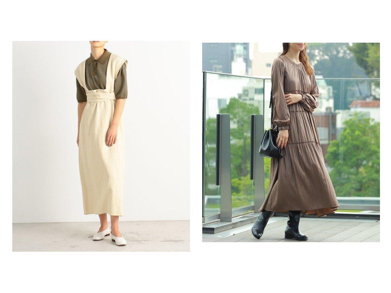 【Ray BEAMS/レイ ビームス】のチンツ ティアード ロングワンピース&【BACCA/バッカ】のコットンメタル エプロンワンピース ワンピース・ドレスのおすすめ!人気、トレンド・レディースファッションの通販 おすすめで人気の流行・トレンド、ファッションの通販商品 メンズファッション・キッズファッション・インテリア・家具・レディースファッション・服の通販 founy(ファニー) https://founy.com/ ファッション Fashion レディースファッション WOMEN ワンピース Dress 2020年 2020 2020 春夏 S/S SS Spring/Summer 2020 S/S 春夏 SS Spring/Summer ジャケット スリーブ セットアップ タンク タートルネック ネップ フレンチ フロント メタル リボン リラックス A/W 秋冬 AW Autumn/Winter / FW Fall-Winter ティアード ベロア レギンス ロング ワイド 長袖 |ID:crp329100000014056