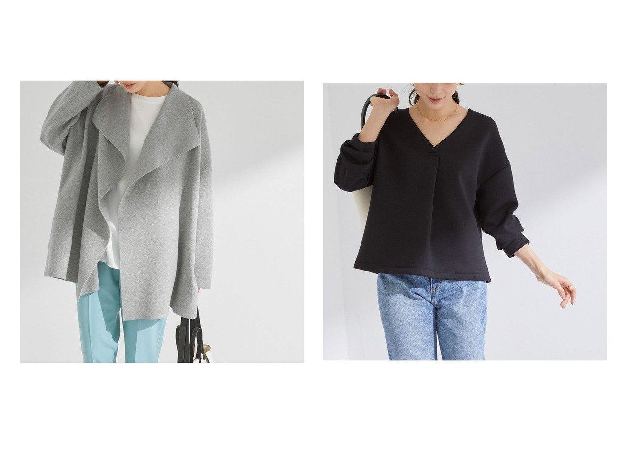 【ROPE/ロペ】のWジャガードラペルドロップショルダーニットカーディガン&【21SS】ダンボールフロントタックVネックプルオーバー トップス・カットソーのおすすめ!人気、トレンド・レディースファッションの通販  おすすめで人気の流行・トレンド、ファッションの通販商品 メンズファッション・キッズファッション・インテリア・家具・レディースファッション・服の通販 founy(ファニー) https://founy.com/ ファッション Fashion レディースファッション WOMEN トップス Tops Tshirt ニット Knit Tops カーディガン Cardigans プルオーバー Pullover カットソー Cut and Sewn Vネック V-Neck 春 Spring カーディガン ショルダー ショート ストレッチ デニム ドロップ フォルム プリーツ ポケット モダン S/S 春夏 SS Spring/Summer NEW・新作・新着・新入荷 New Arrivals 2021年 2021 2021 春夏 S/S SS Spring/Summer 2021 カットソー フロント ベーシック モノトーン  ID:crp329100000014204