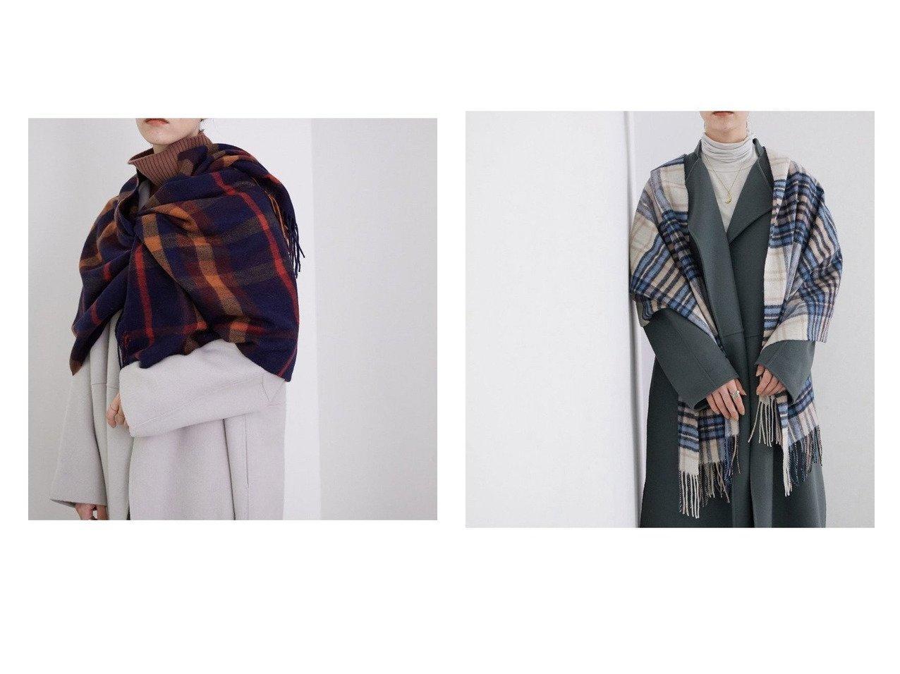 【ROPE' mademoiselle/ロペ マドモアゼル】のウールチェックストール おすすめ!人気、トレンド・レディースファッションの通販  おすすめで人気の流行・トレンド、ファッションの通販商品 メンズファッション・キッズファッション・インテリア・家具・レディースファッション・服の通販 founy(ファニー) https://founy.com/ ファッション Fashion レディースファッション WOMEN ストール チェック 冬 Winter |ID:crp329100000014401