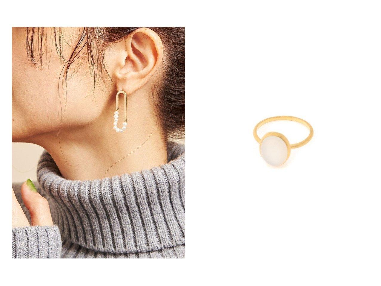 【BEAUTY&YOUTH UNITED ARROWS/ビューティアンド ユースユナイテッドアローズ】のBY 淡水ツブパール オーバルピアス&【SLOBE IENA/スローブ イエナ】のPondichery Natural stone ring おすすめ!人気、トレンド・レディースファッションの通販  おすすめで人気の流行・トレンド、ファッションの通販商品 メンズファッション・キッズファッション・インテリア・家具・レディースファッション・服の通販 founy(ファニー) https://founy.com/ ファッション Fashion レディースファッション WOMEN アクセサリー オーバル パール 2020年 2020 2020 春夏 S/S SS Spring/Summer 2020 S/S 春夏 SS Spring/Summer インド ワンポイント |ID:crp329100000014403