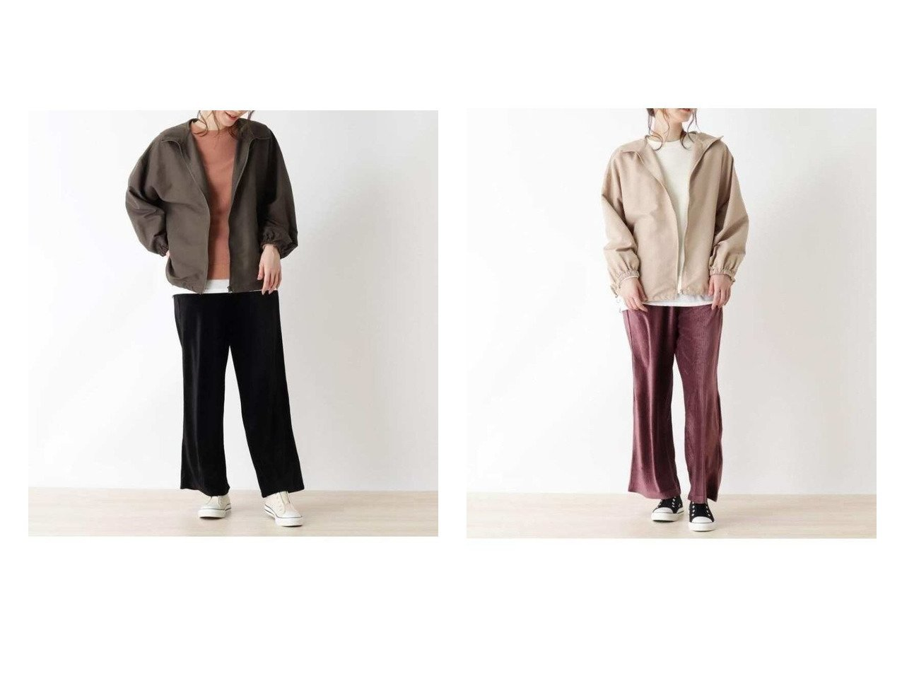 【SHOO LA RUE/シューラルー】の【3点セット】ブルゾン+裏起毛トレーナー+リブベロアパンツ パンツのおすすめ!人気、トレンド・レディースファッションの通販 おすすめで人気の流行・トレンド、ファッションの通販商品 メンズファッション・キッズファッション・インテリア・家具・レディースファッション・服の通販 founy(ファニー) https://founy.com/ ファッション Fashion レディースファッション WOMEN アウター Coat Outerwear ブルゾン Blouson Jackets インナー チュニック トレンド トレーナー ブルゾン プリーツ ベロア ポケット ロング 春 Spring |ID:crp329100000014422