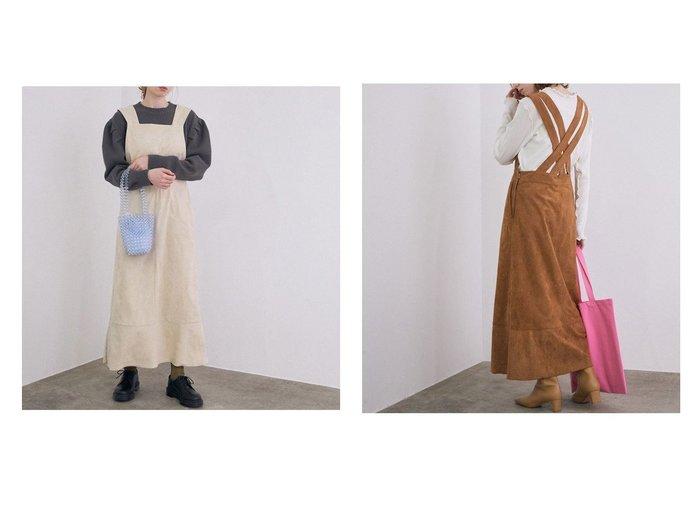 【ROPE' mademoiselle/ロペ マドモアゼル】のフェイクスエードジャンパースカート スカートのおすすめ!人気、トレンド・レディースファッションの通販 おすすめファッション通販アイテム レディースファッション・服の通販 founy(ファニー) ファッション Fashion レディースファッション WOMEN スカート Skirt NEW・新作・新着・新入荷 New Arrivals インナー ダブル フェイクスエード フェミニン ポケット |ID:crp329100000014435