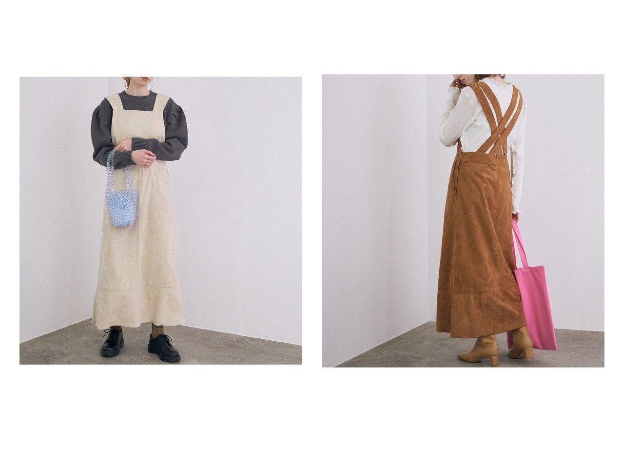 【ROPE' mademoiselle/ロペ マドモアゼル】のフェイクスエードジャンパースカート スカートのおすすめ!人気、トレンド・レディースファッションの通販 おすすめで人気の流行・トレンド、ファッションの通販商品 メンズファッション・キッズファッション・インテリア・家具・レディースファッション・服の通販 founy(ファニー) https://founy.com/ ファッション Fashion レディースファッション WOMEN スカート Skirt NEW・新作・新着・新入荷 New Arrivals インナー ダブル フェイクスエード フェミニン ポケット |ID:crp329100000014435