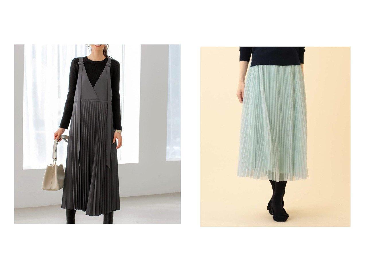 【Reflect/リフレクト】のチュールプリーツスカート&【STYLE DELI/スタイルデリ】のアンブレラプリーツジャンパースカート スカートのおすすめ!人気、トレンド・レディースファッションの通販 おすすめで人気の流行・トレンド、ファッションの通販商品 メンズファッション・キッズファッション・インテリア・家具・レディースファッション・服の通販 founy(ファニー) https://founy.com/ ファッション Fashion レディースファッション WOMEN スカート Skirt プリーツスカート Pleated Skirts サテン チュール フレア プリーツ インナー カットソー クール シンプル タンク ノースリーブ 長袖 ポケット ラップ ロング 冬 Winter |ID:crp329100000014440