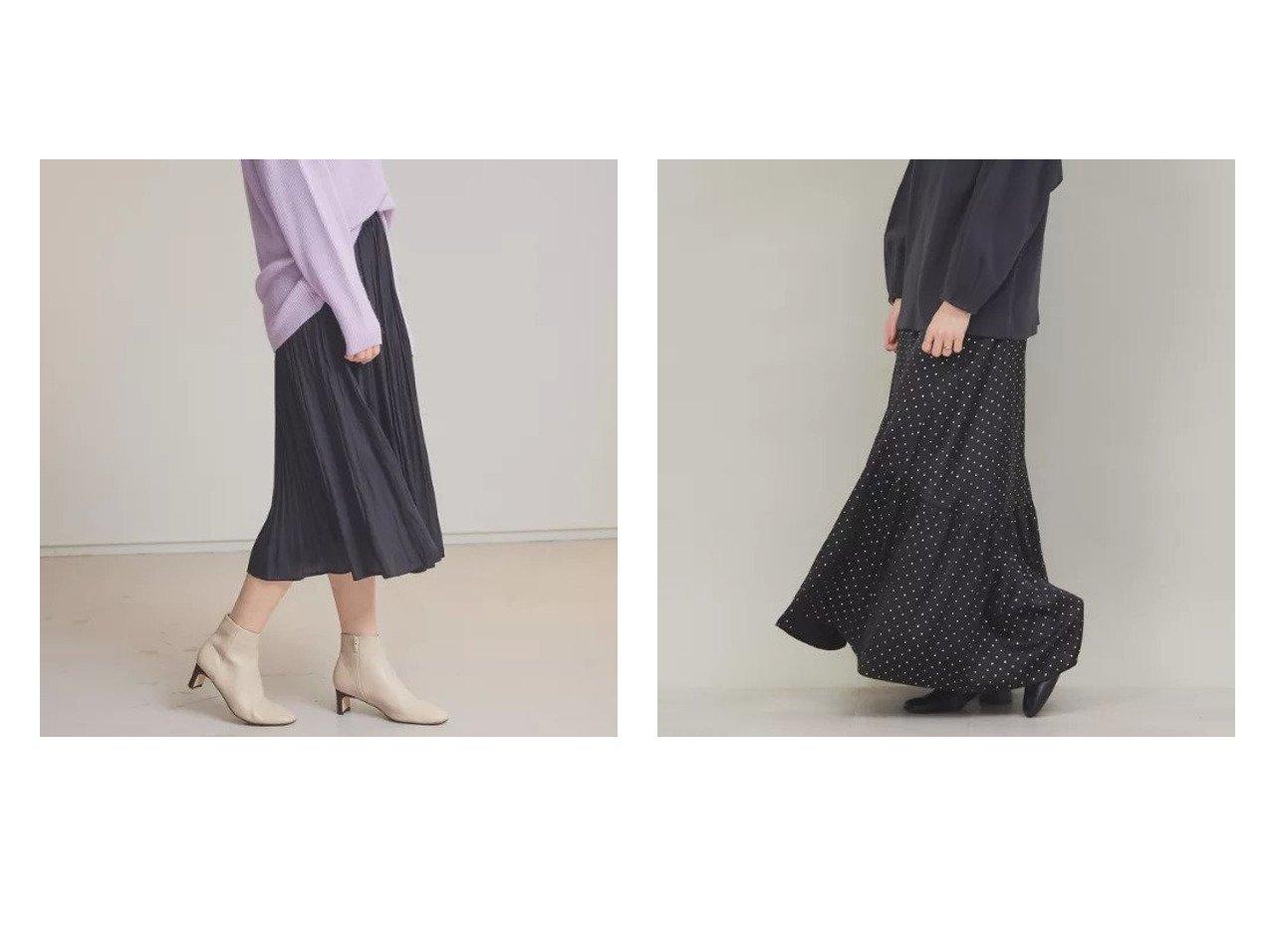 【abahouse mavie/アバハウスマヴィ】のecru ランダムプリーツミモレ丈スカート&【Rouge vif/ルージュ ヴィフ】のシャインドットスカート スカートのおすすめ!人気、トレンド・レディースファッションの通販 おすすめで人気の流行・トレンド、ファッションの通販商品 メンズファッション・キッズファッション・インテリア・家具・レディースファッション・服の通販 founy(ファニー) https://founy.com/ ファッション Fashion レディースファッション WOMEN スカート Skirt ドット プリント マキシ ロング |ID:crp329100000014448