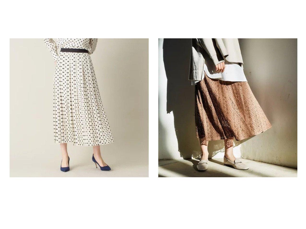 【DESIGN WORKS/デザイン ワークス】のドットプリントプリーツスカート&【abahouse mavie/アバハウスマヴィ】のecru レースマーメイドスカート スカートのおすすめ!人気、トレンド・レディースファッションの通販 おすすめで人気の流行・トレンド、ファッションの通販商品 メンズファッション・キッズファッション・インテリア・家具・レディースファッション・服の通販 founy(ファニー) https://founy.com/ ファッション Fashion レディースファッション WOMEN スカート Skirt プリーツスカート Pleated Skirts ストライプ マキシ マーメイド レース ロング |ID:crp329100000014449
