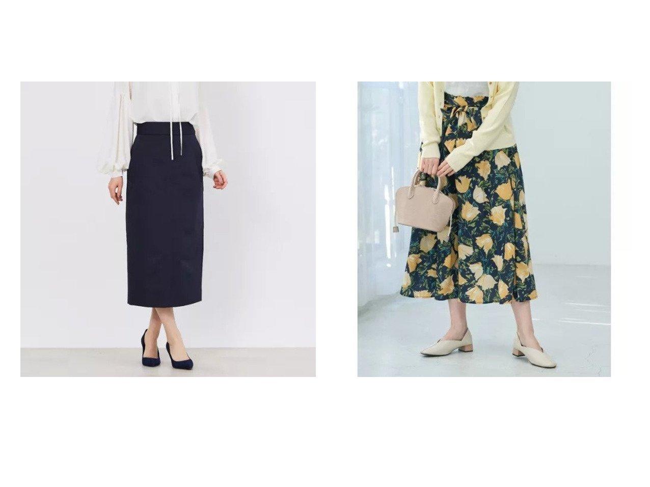 【Rope Picnic/ロペピクニック】の【リンクコーデ】BIGフラワーフレアスカート&【DESIGN WORKS/デザイン ワークス】のグログランタイトSK スカートのおすすめ!人気、トレンド・レディースファッションの通販 おすすめで人気の流行・トレンド、ファッションの通販商品 メンズファッション・キッズファッション・インテリア・家具・レディースファッション・服の通販 founy(ファニー) https://founy.com/ ファッション Fashion レディースファッション WOMEN スカート Skirt Aライン/フレアスカート Flared A-Line Skirts イエロー スカーフ フラワー ポケット ラベンダー リブニット 春 Spring シンプル スリット マキシ ロング |ID:crp329100000014451