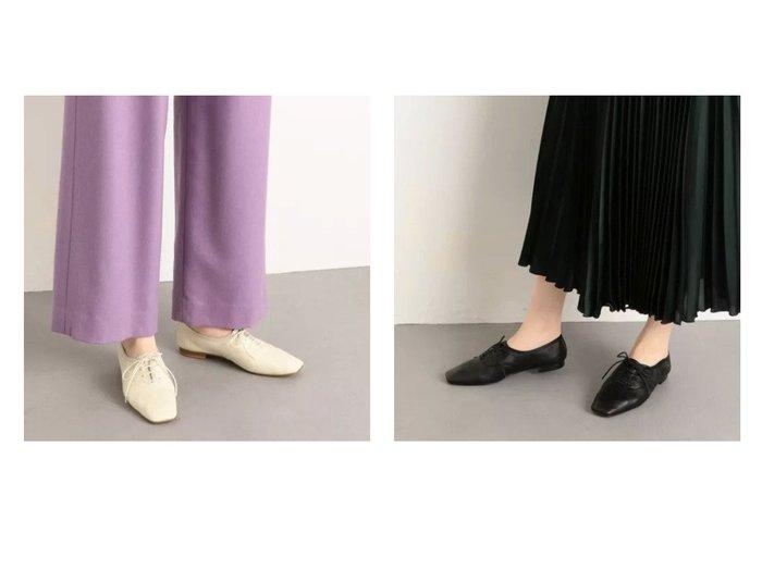 【Odette e Odile/オデット エ オディール】のOFC ソフトレースアップ FLT10↓↑ シューズ・靴のおすすめ!人気、トレンド・レディースファッションの通販 おすすめファッション通販アイテム レディースファッション・服の通販 founy(ファニー) ファッション Fashion レディースファッション WOMEN シューズ スクエア フラット リラックス |ID:crp329100000014461