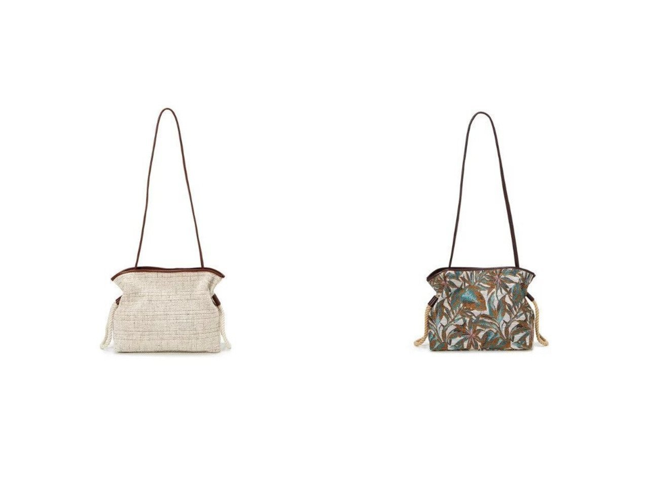 【TOPKAPI/トプカピ】のモールファブリック ドロスト ショルダーバッグ&リーフジャガード ドロスト ショルダーバッグ バッグ・鞄のおすすめ!人気、トレンド・レディースファッションの通販 おすすめで人気の流行・トレンド、ファッションの通販商品 メンズファッション・キッズファッション・インテリア・家具・レディースファッション・服の通販 founy(ファニー) https://founy.com/ ファッション Fashion レディースファッション WOMEN バッグ Bag ショルダー シンプル フランス ボタニカル リゾート 巾着  ID:crp329100000014476