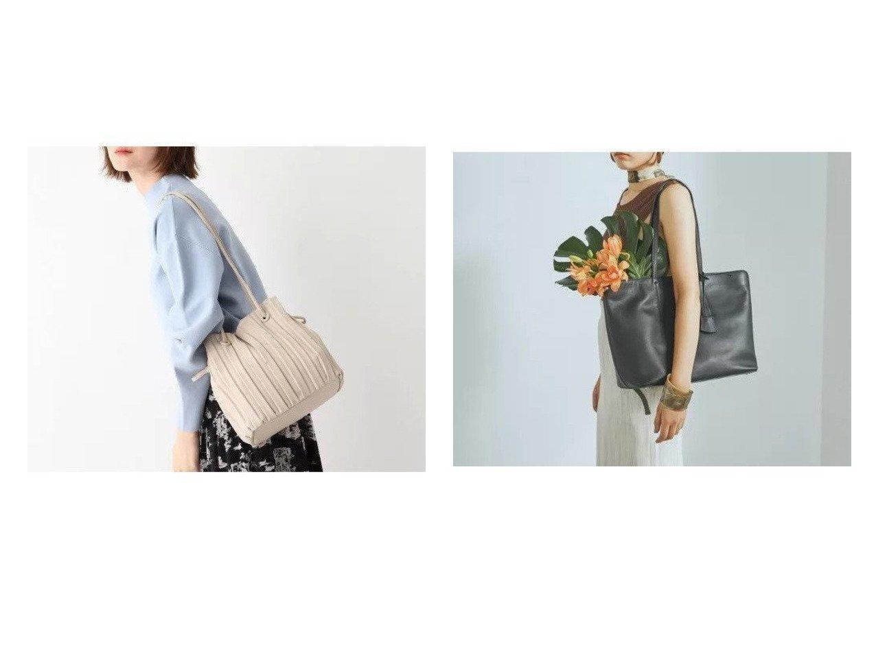 【AG by aquagirl/エージー バイ アクアガール】のくるみハトメプリーツショルダーバッグ&【TOPKAPI/トプカピ】のフロントステッチ レザーA4トートバッグ バッグ・鞄のおすすめ!人気、トレンド・レディースファッションの通販 おすすめで人気の流行・トレンド、ファッションの通販商品 メンズファッション・キッズファッション・インテリア・家具・レディースファッション・服の通販 founy(ファニー) https://founy.com/ ファッション Fashion レディースファッション WOMEN バッグ Bag トレンド フェイクレザー プリーツ ポケット 巾着 財布 チャーム フロント  ID:crp329100000014489