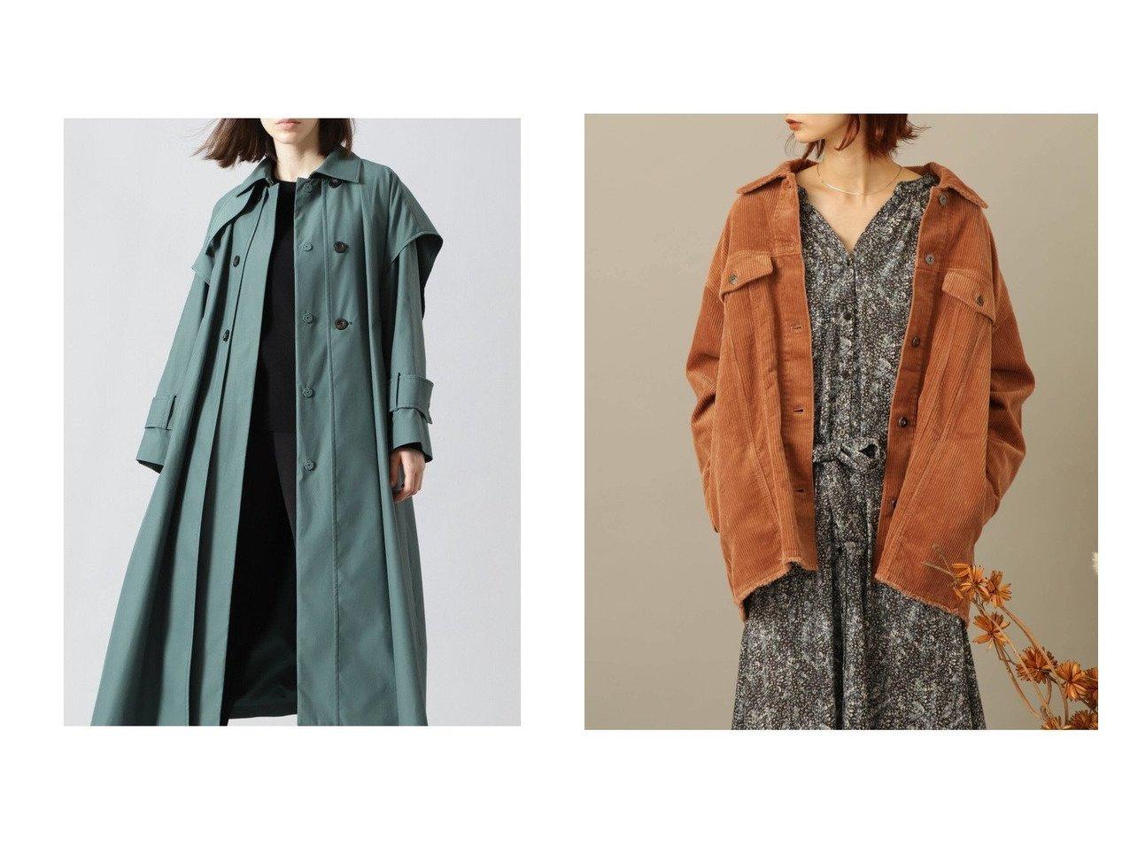 【SENSE OF PLACE / URBAN RESEARCH/センス オブ プレイス】のコーデュロイワークジャケット&【ADORE/アドーア】のレイヤードコート アウターのおすすめ!人気、トレンド・レディースファッションの通販 おすすめで人気の流行・トレンド、ファッションの通販商品 メンズファッション・キッズファッション・インテリア・家具・レディースファッション・服の通販 founy(ファニー) https://founy.com/ ファッション Fashion レディースファッション WOMEN アウター Coat Outerwear コート Coats ジャケット Jackets シャンブレー ジャケット ビッグ ロング コーデュロイ セットアップ ワイド 秋 Autumn/Fall |ID:crp329100000014497